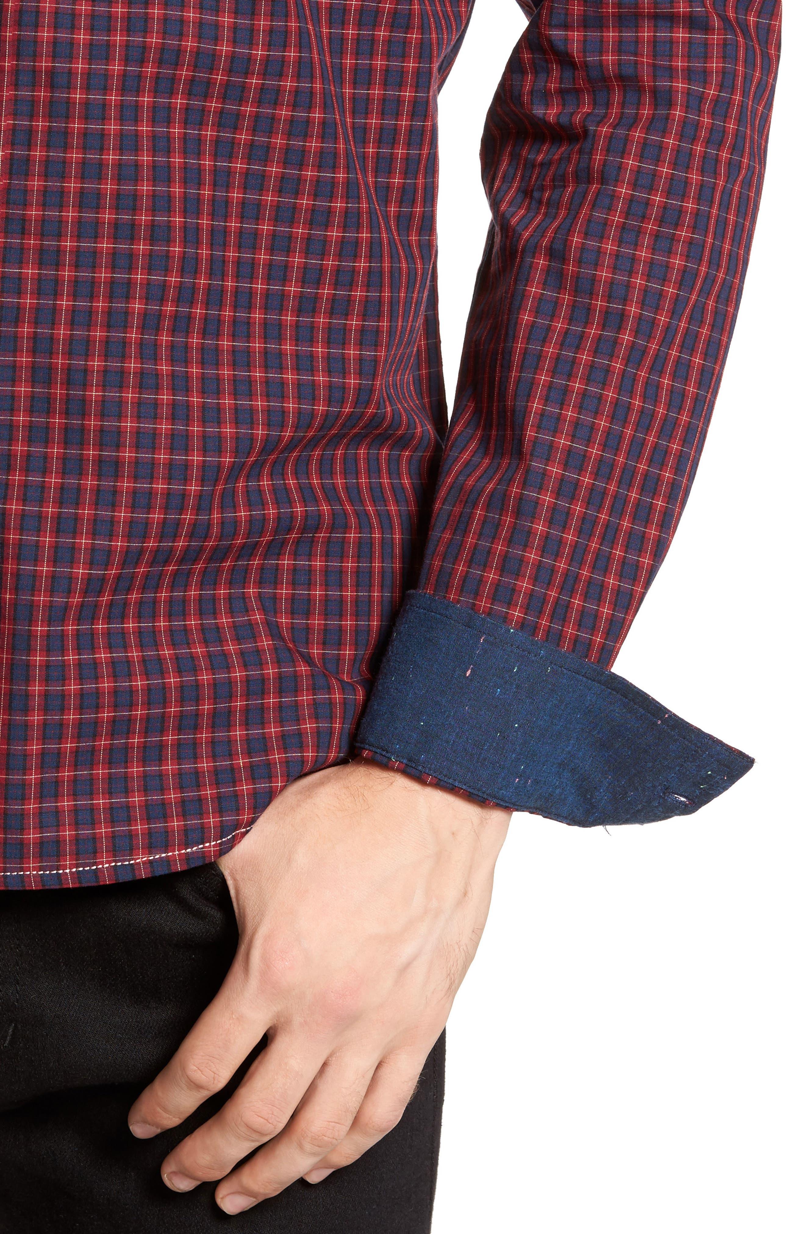 Tinto Plaid Woven Shirt,                             Alternate thumbnail 4, color,                             600