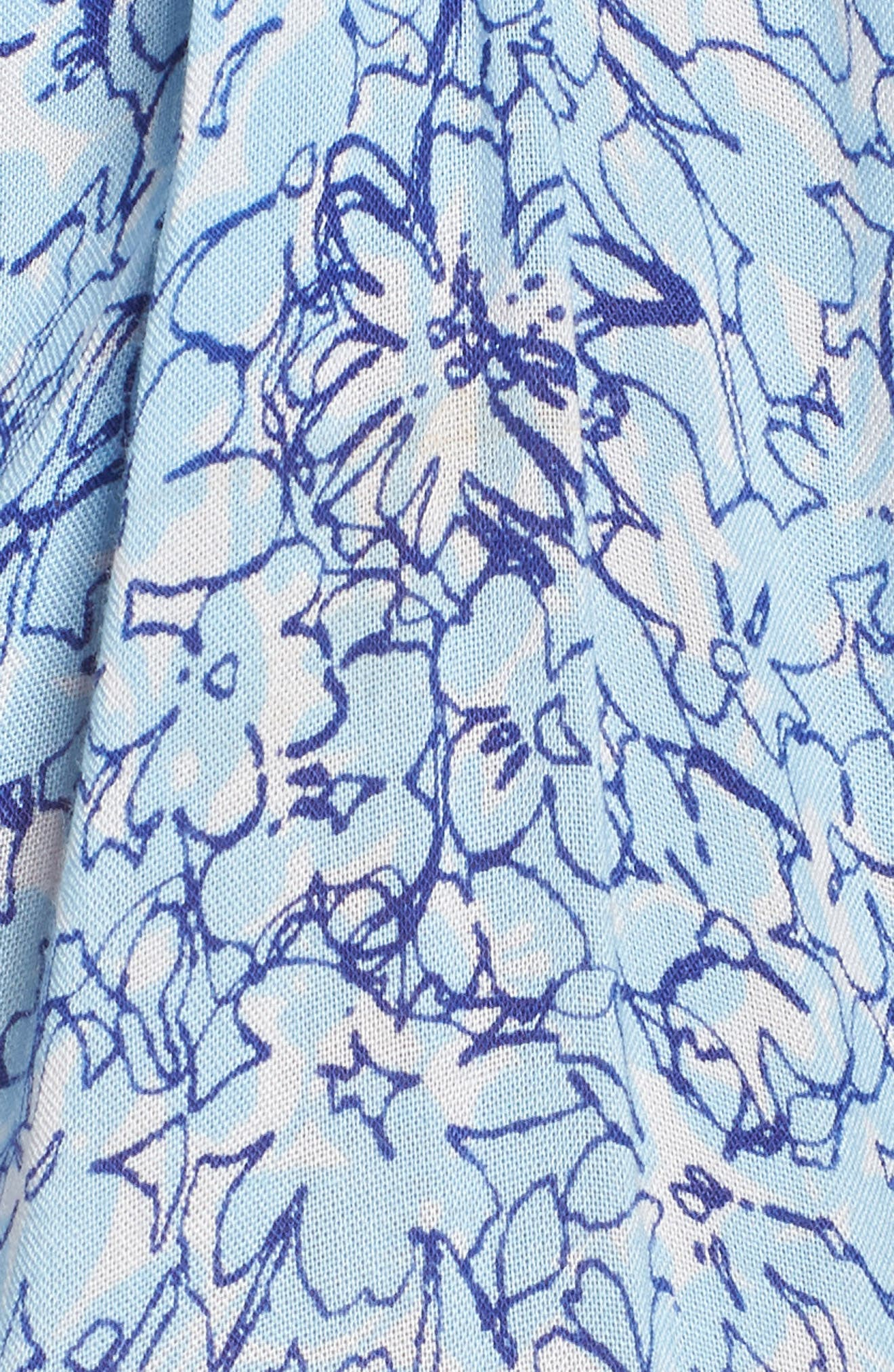 Poupette St. Barth Beline Cover-Up Dress,                             Alternate thumbnail 5, color,                             BLUE JOY