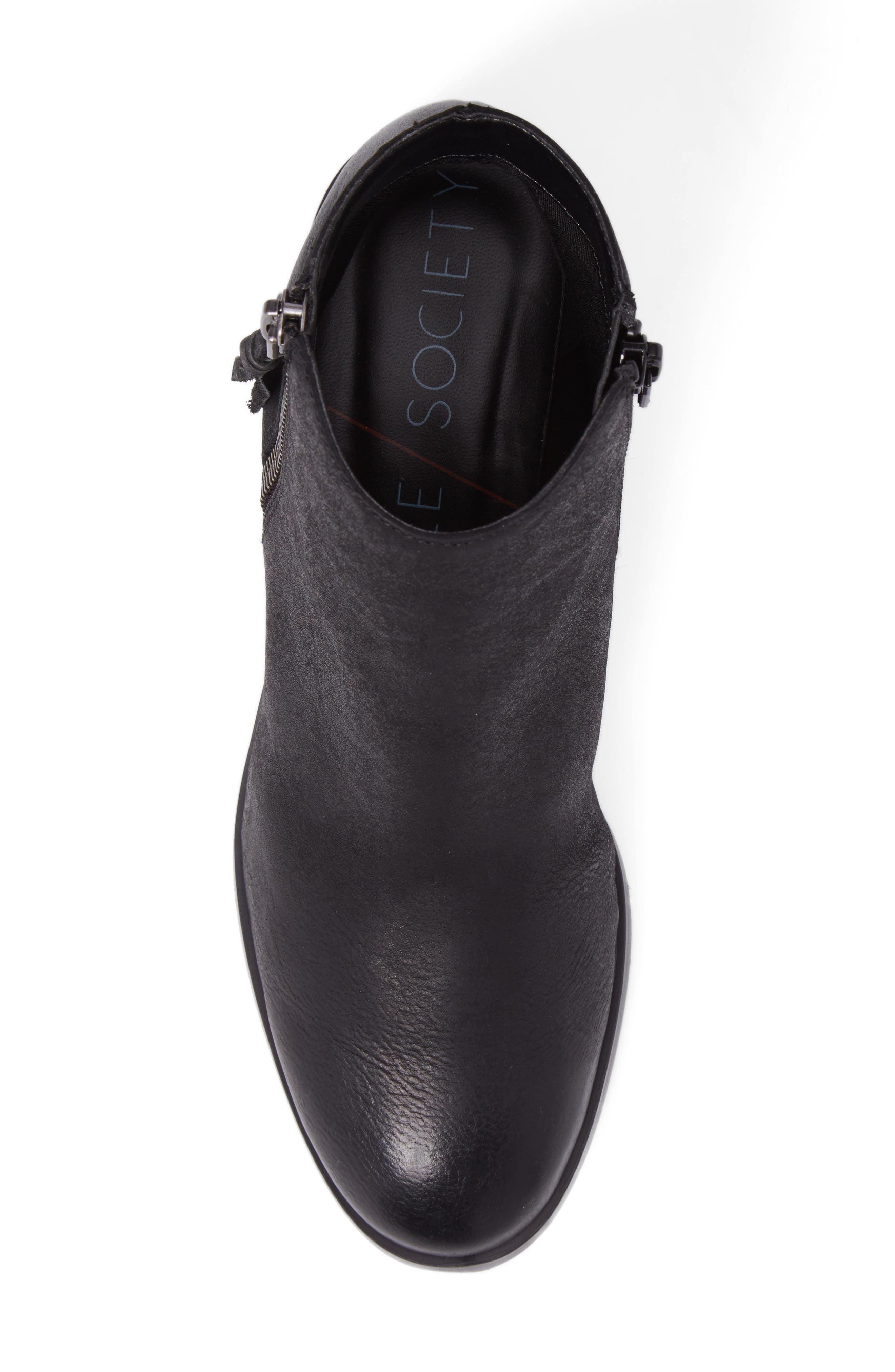 Abbott Bootie,                             Alternate thumbnail 5, color,                             BLACK LEATHER