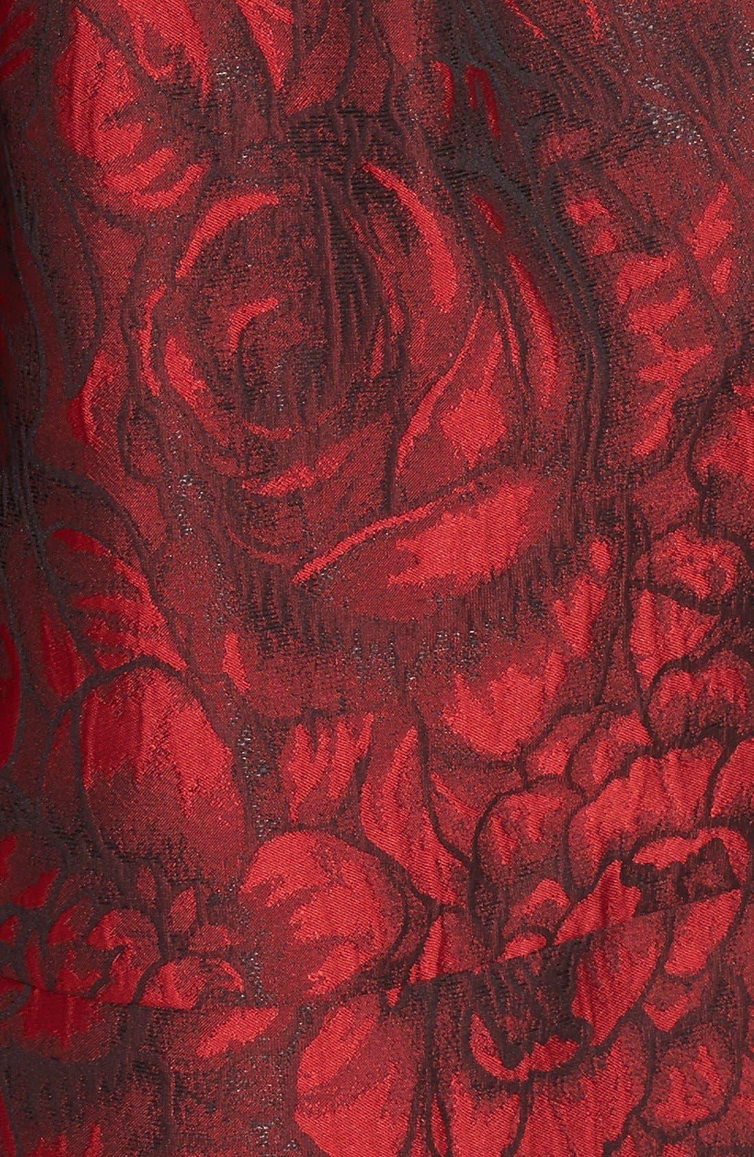 Embellished Waist Brocade Fit & Flare Dress,                             Alternate thumbnail 2, color,                             614