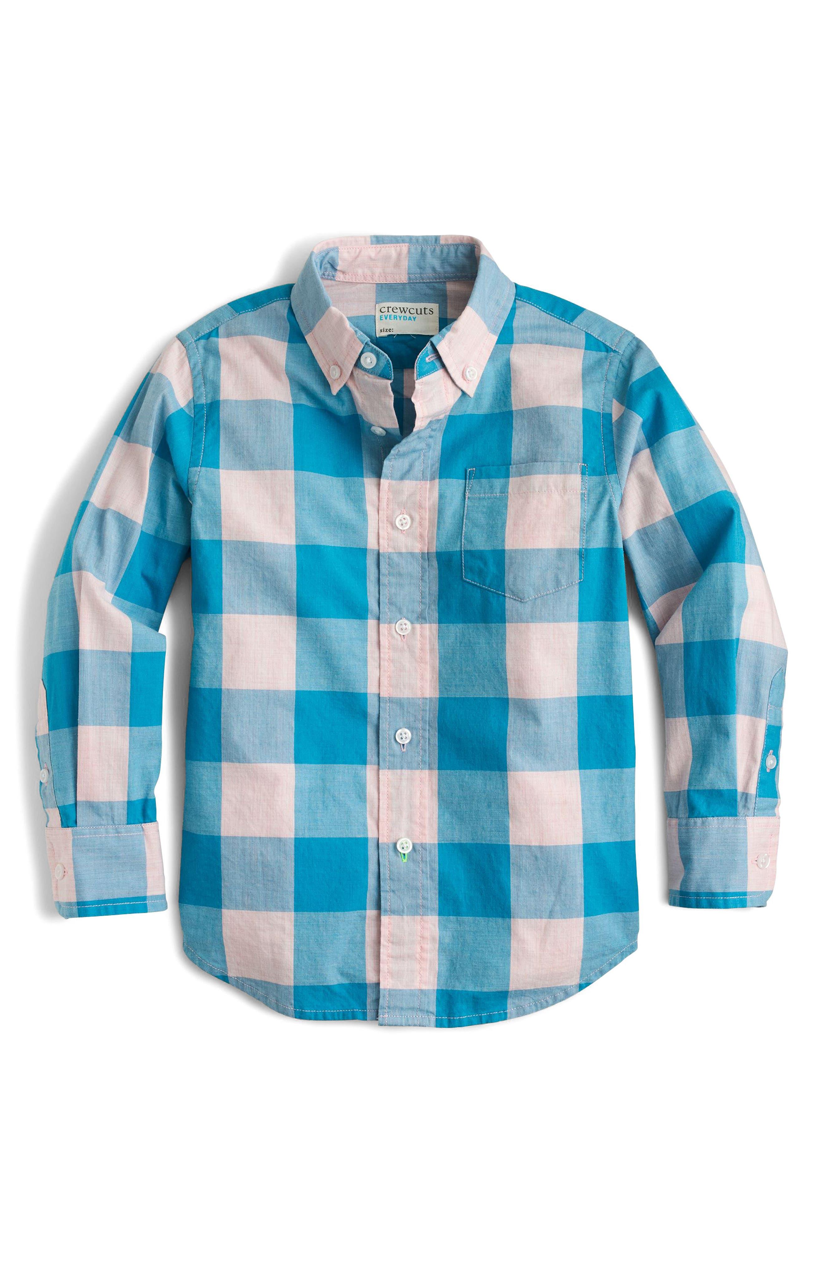 Secret Wash Buffalo Check Woven Shirt,                         Main,                         color, 400