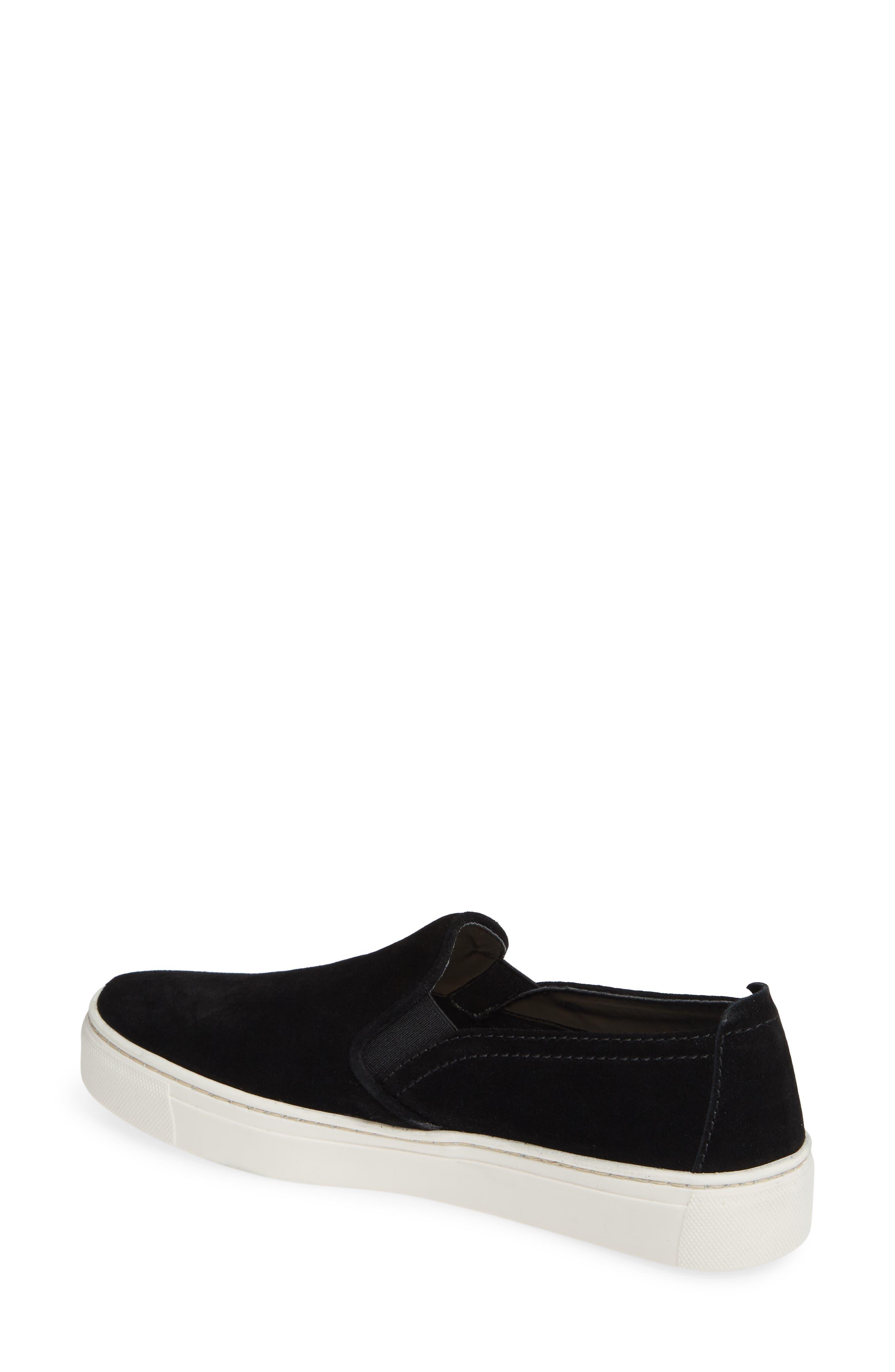 'Sneak Name' Sneaker,                             Alternate thumbnail 2, color,                             BLACK WATERPROOF SUEDE