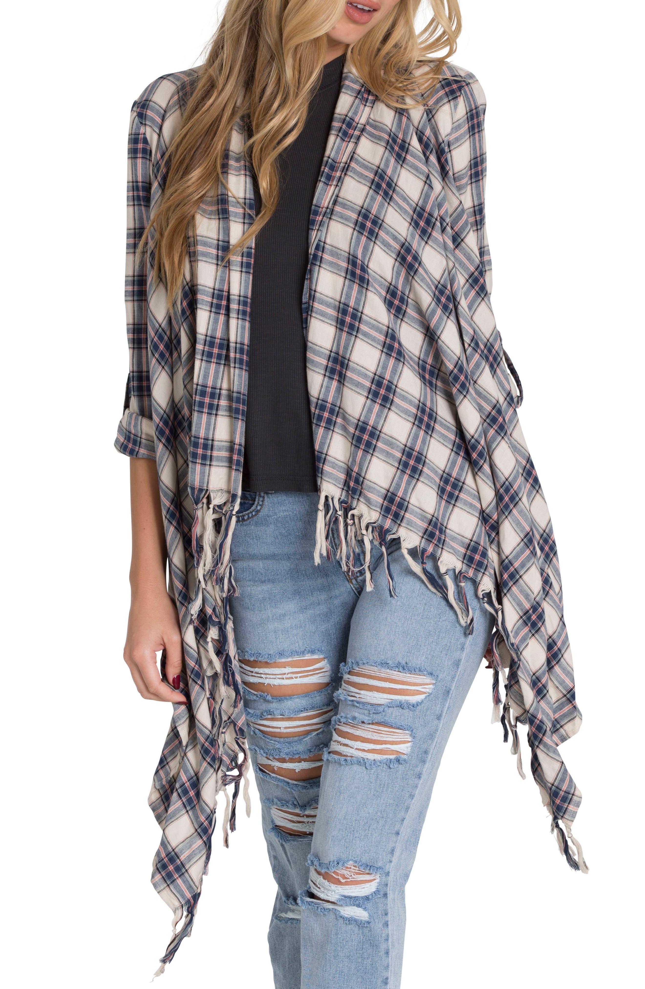 Live it Up Flannel Wrap,                         Main,                         color, 480