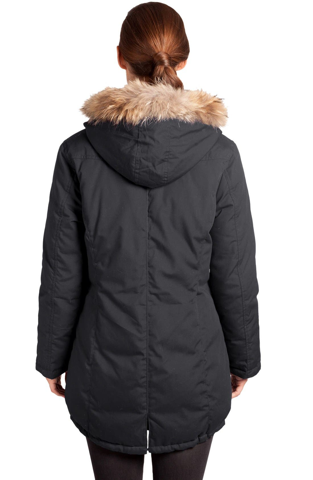 Convertible Down 3-in-1 Maternity Jacket,                             Alternate thumbnail 9, color,                             BLACK