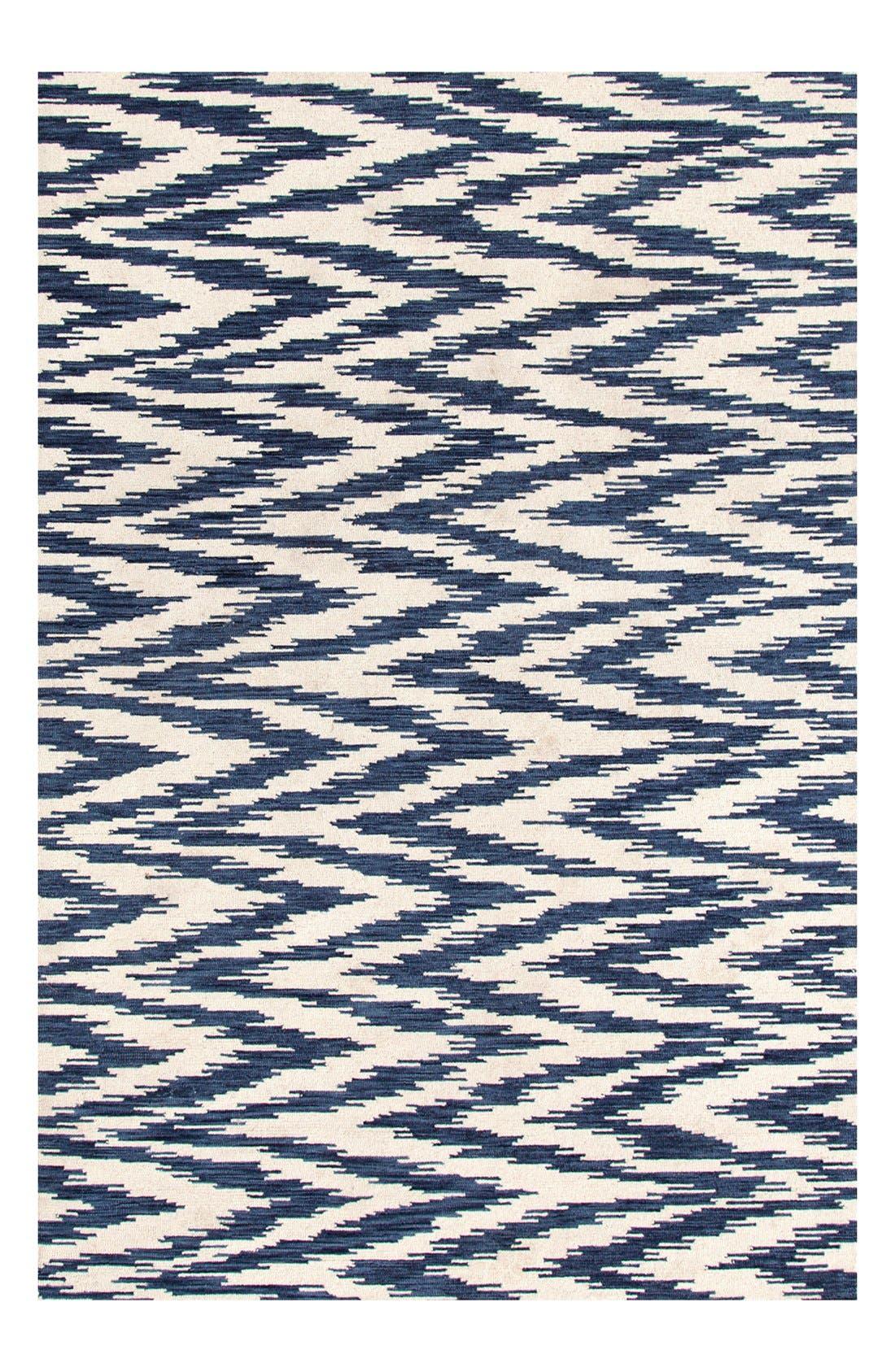 'Chekat Ink' Wool Rug,                             Main thumbnail 1, color,                             BLUE