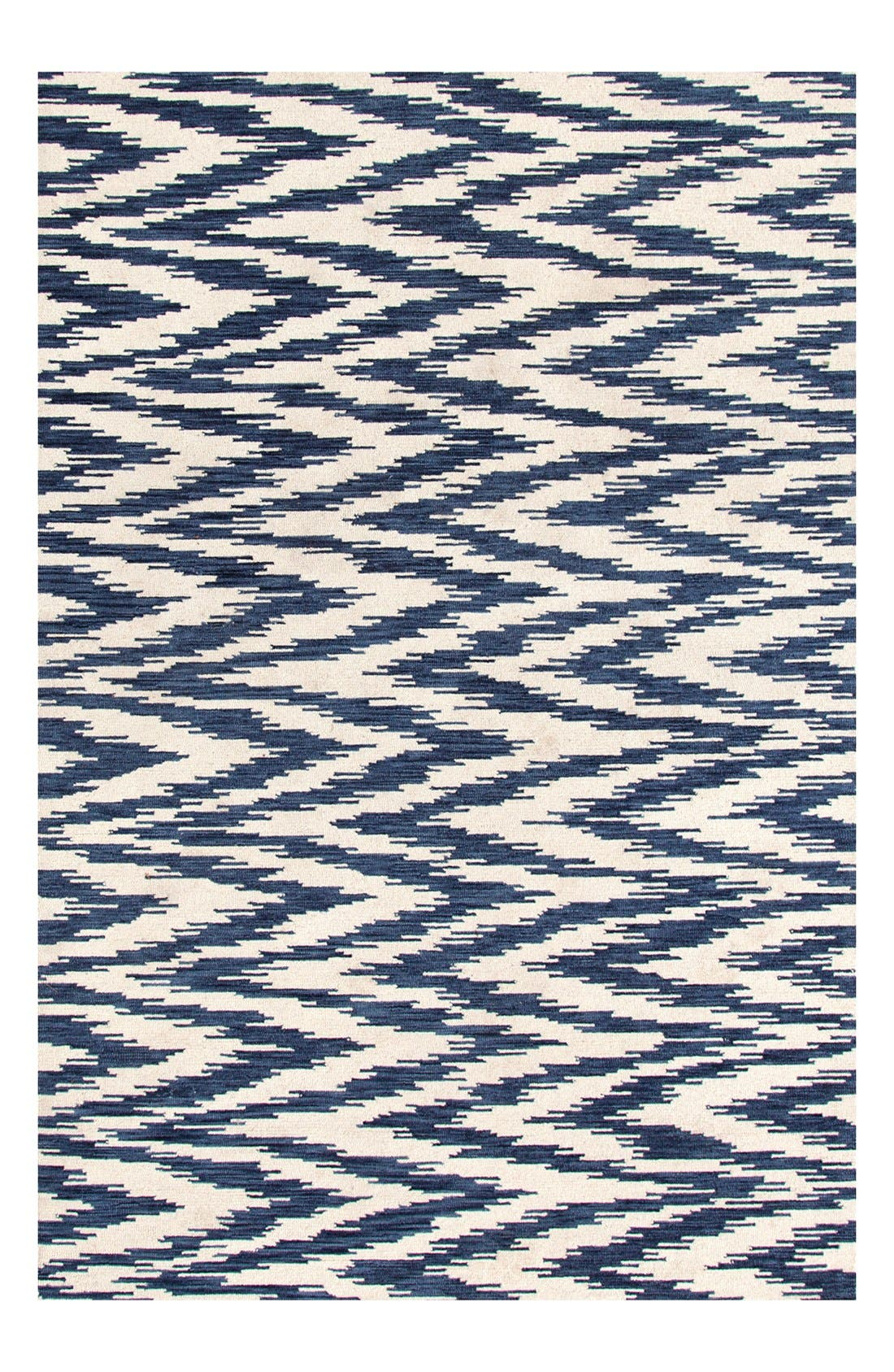 'Chekat Ink' Wool Rug,                         Main,                         color, BLUE