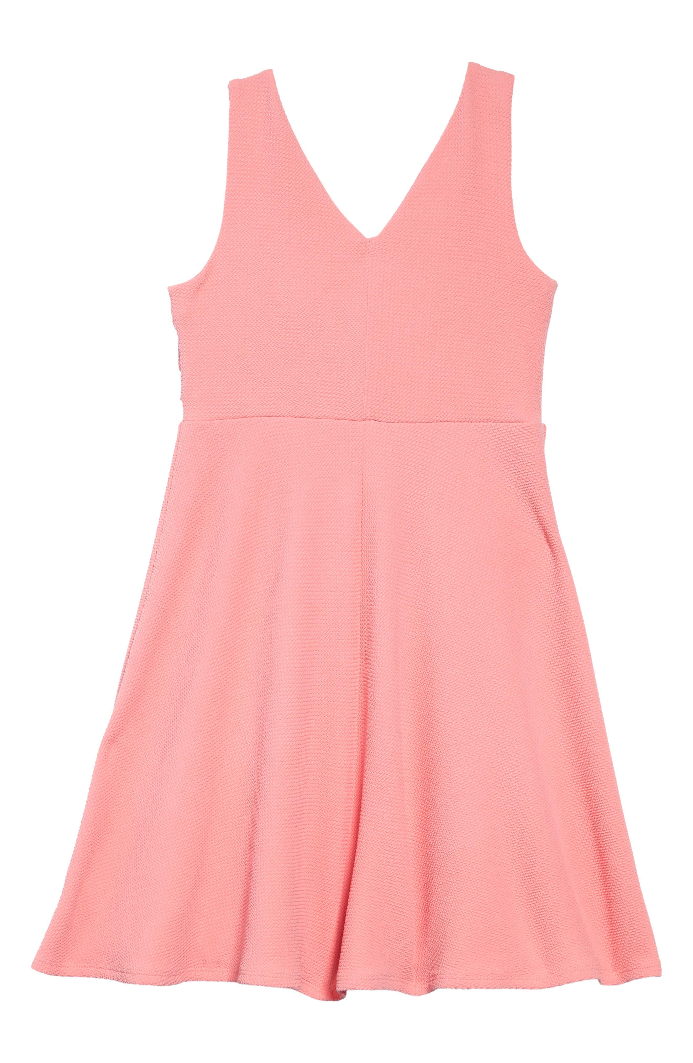 Double Ruffle Dress,                             Alternate thumbnail 2, color,                             PEACH