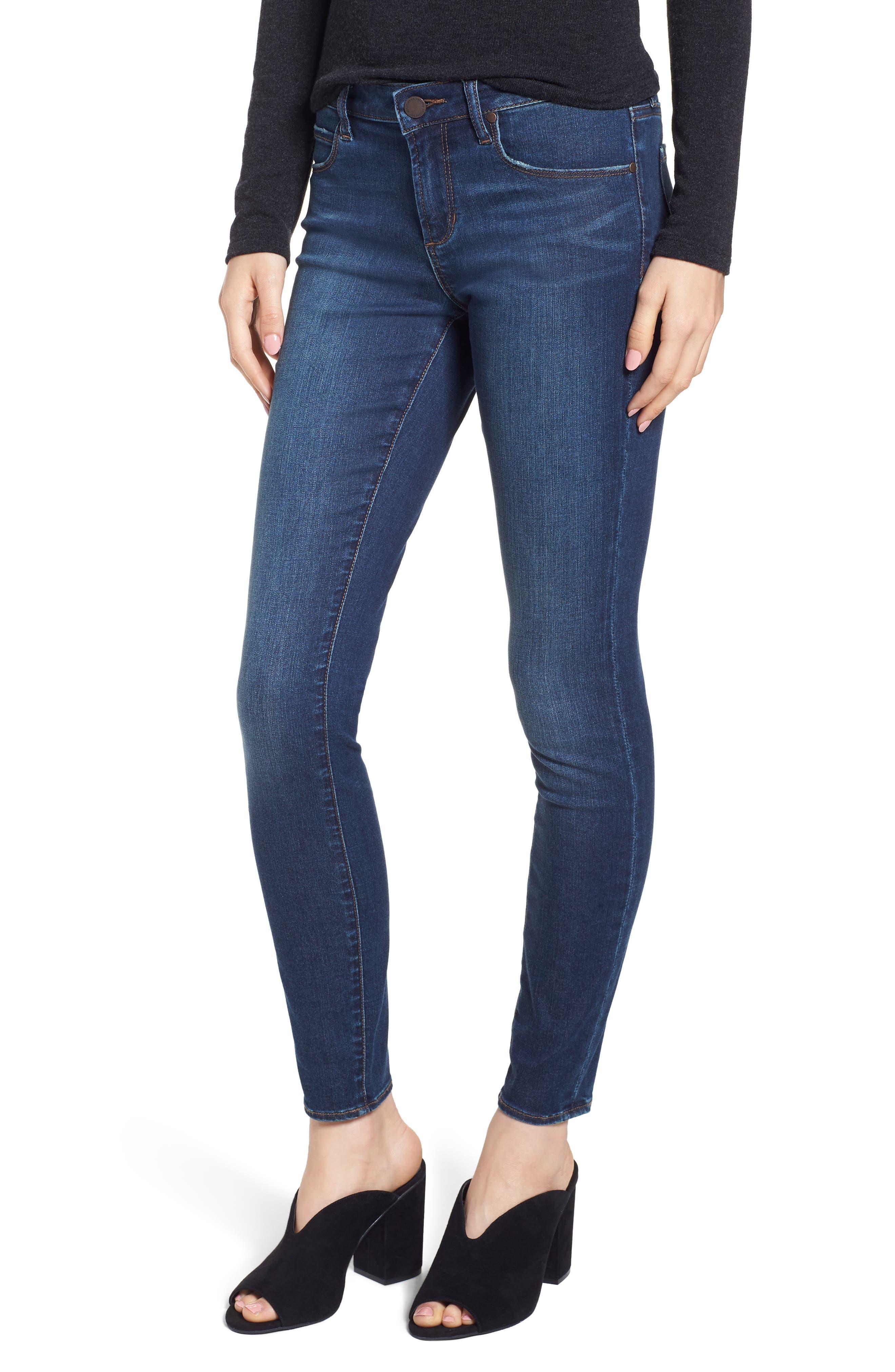 Sarah Skinny Jeans,                             Main thumbnail 1, color,                             SILVER LAKE