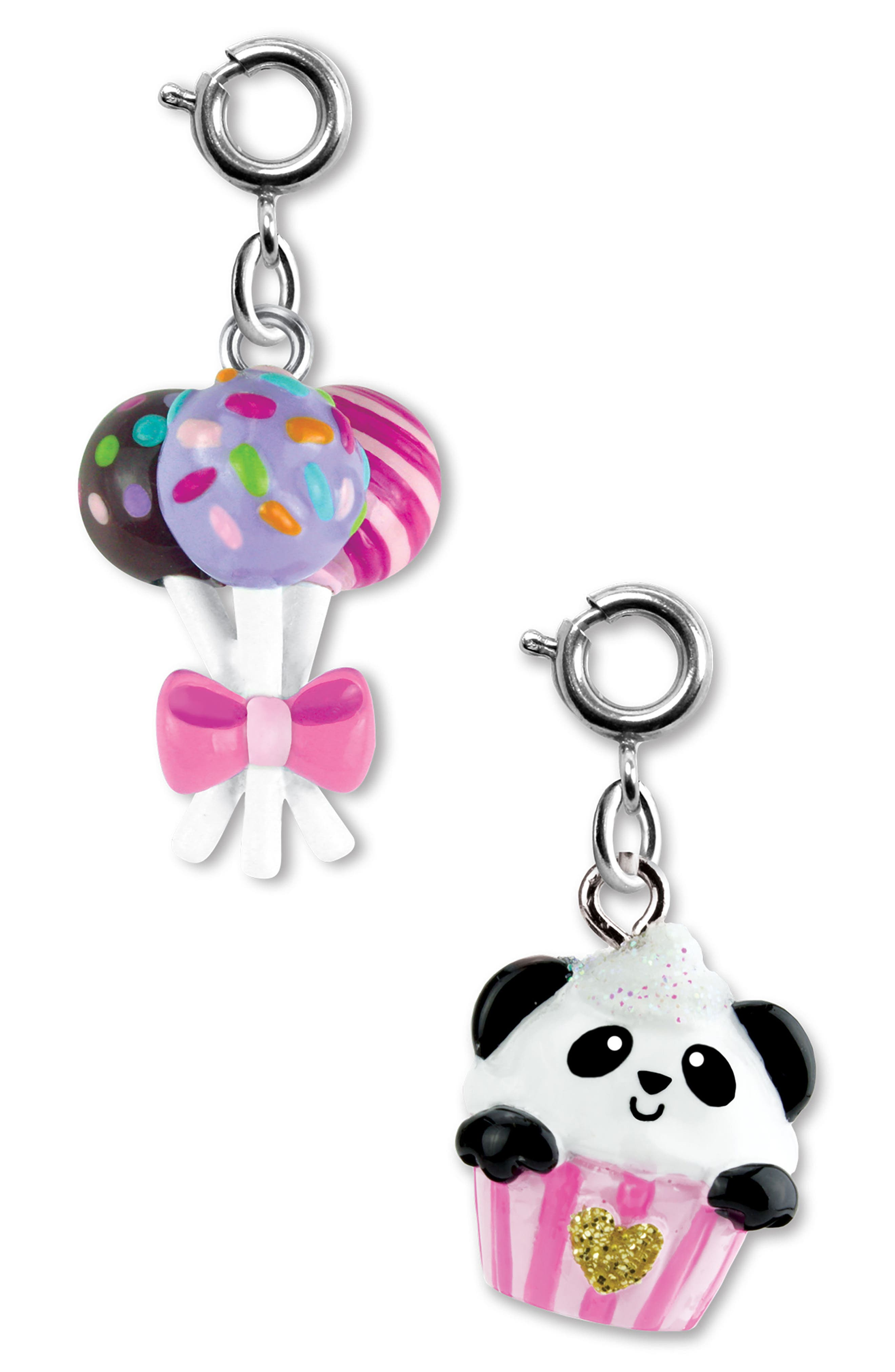 CHARM IT!<sup>®</sup> 2-Pack Panda & Cake Pops Charms,                         Main,                         color, 650