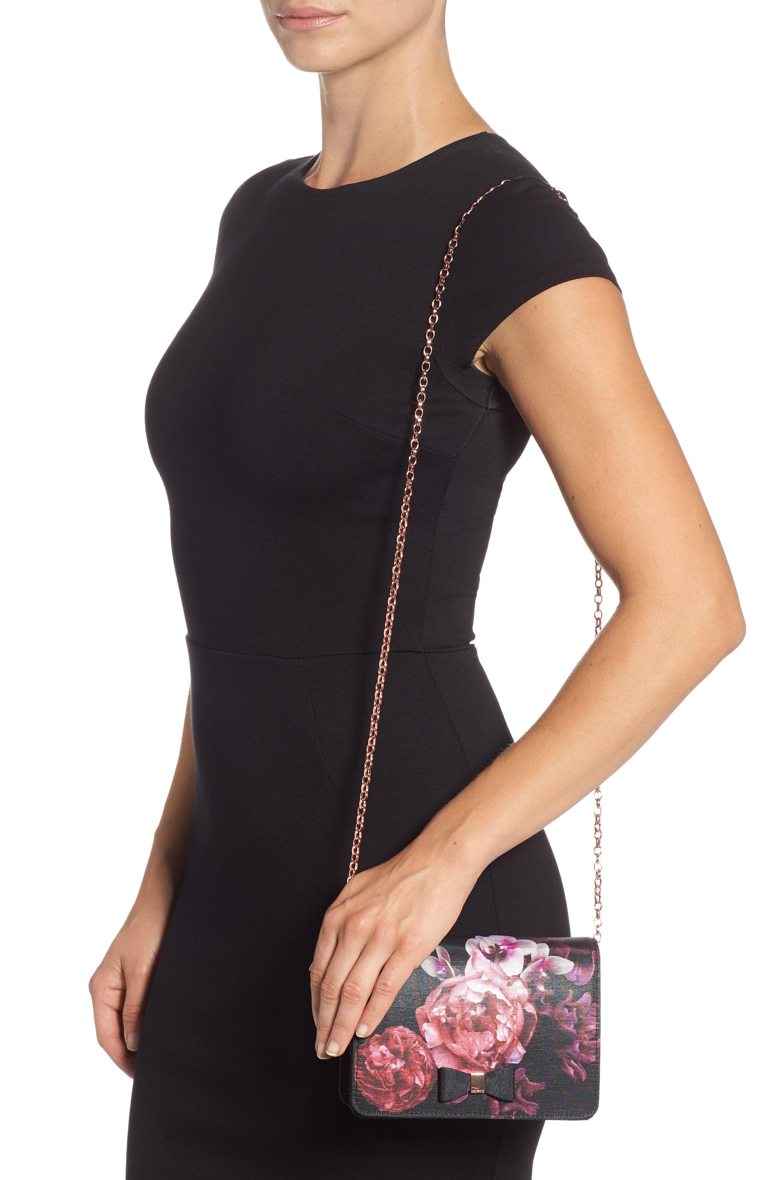 Splendour Mini Bow Evening Bag,                             Alternate thumbnail 2, color,                             001