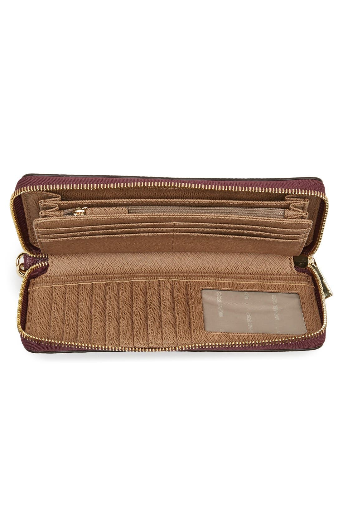 'Mercer' Leather Continental Wallet,                             Alternate thumbnail 15, color,