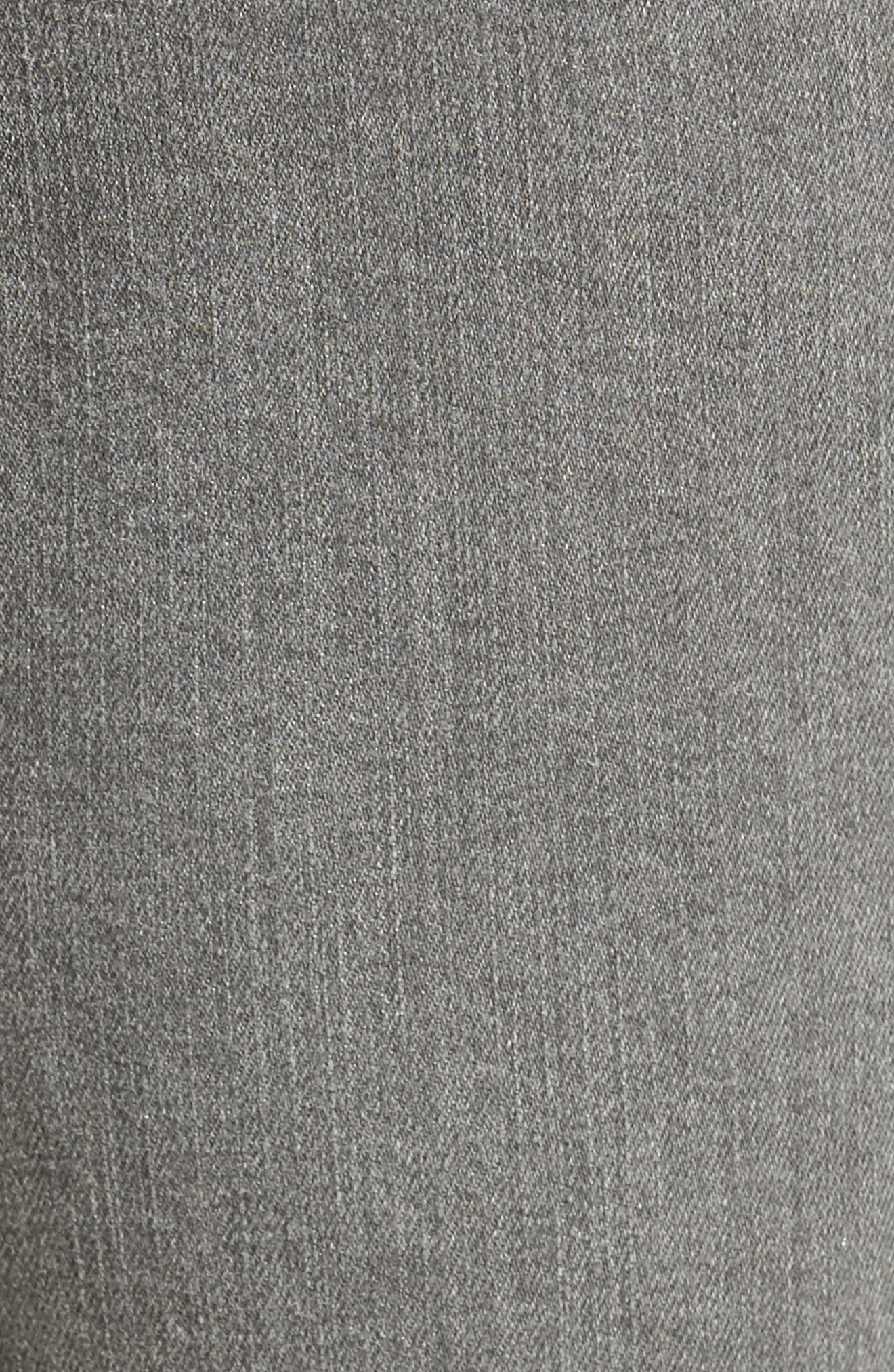 Frayed Release Hem Crop Straight Leg Jeans,                             Alternate thumbnail 5, color,                             032
