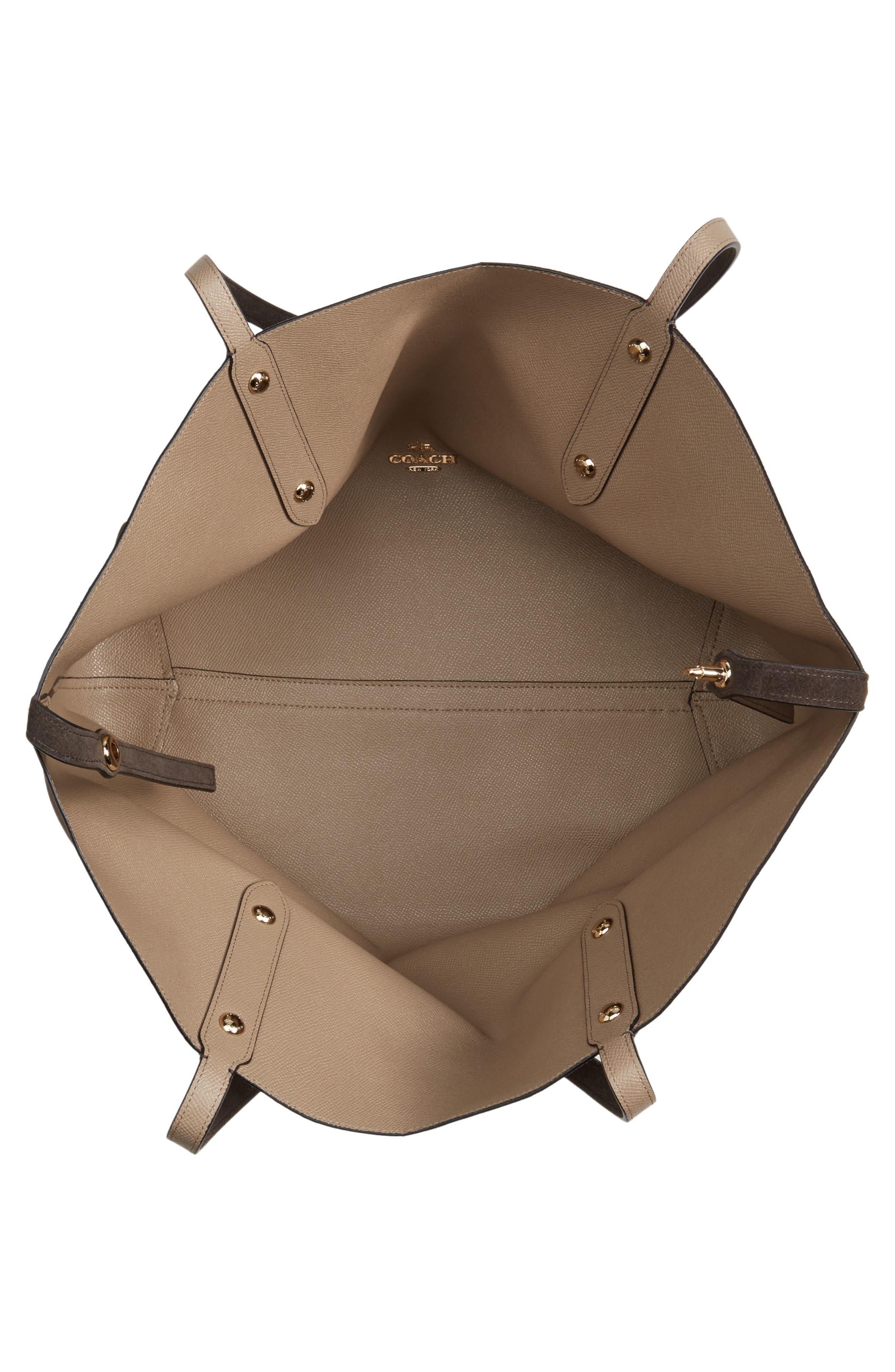 Large Market Reversible Leather Tote,                             Alternate thumbnail 21, color,