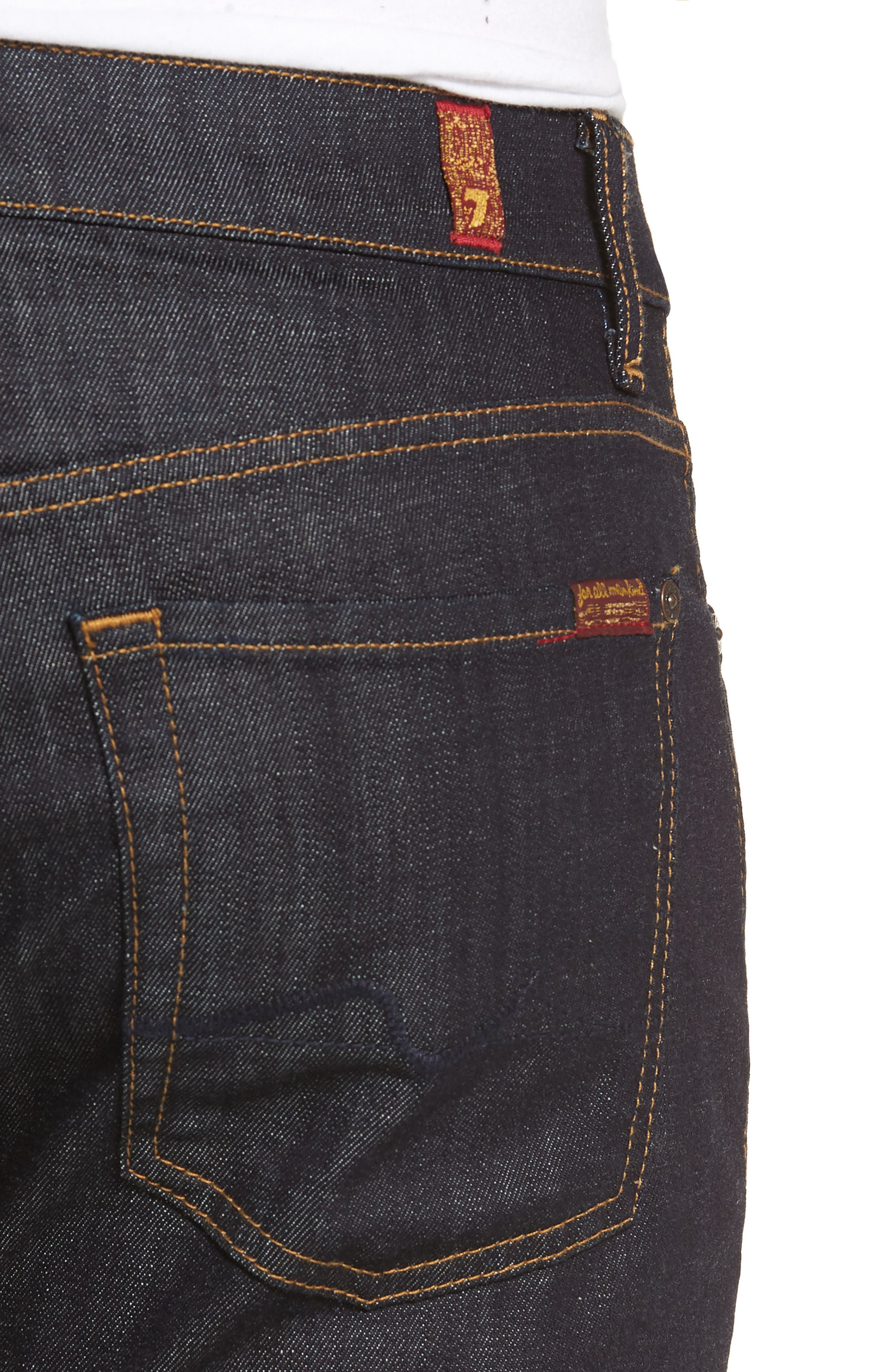 'Standard' Straight Leg Jeans,                             Alternate thumbnail 5, color,                             DARK AND CLEAN