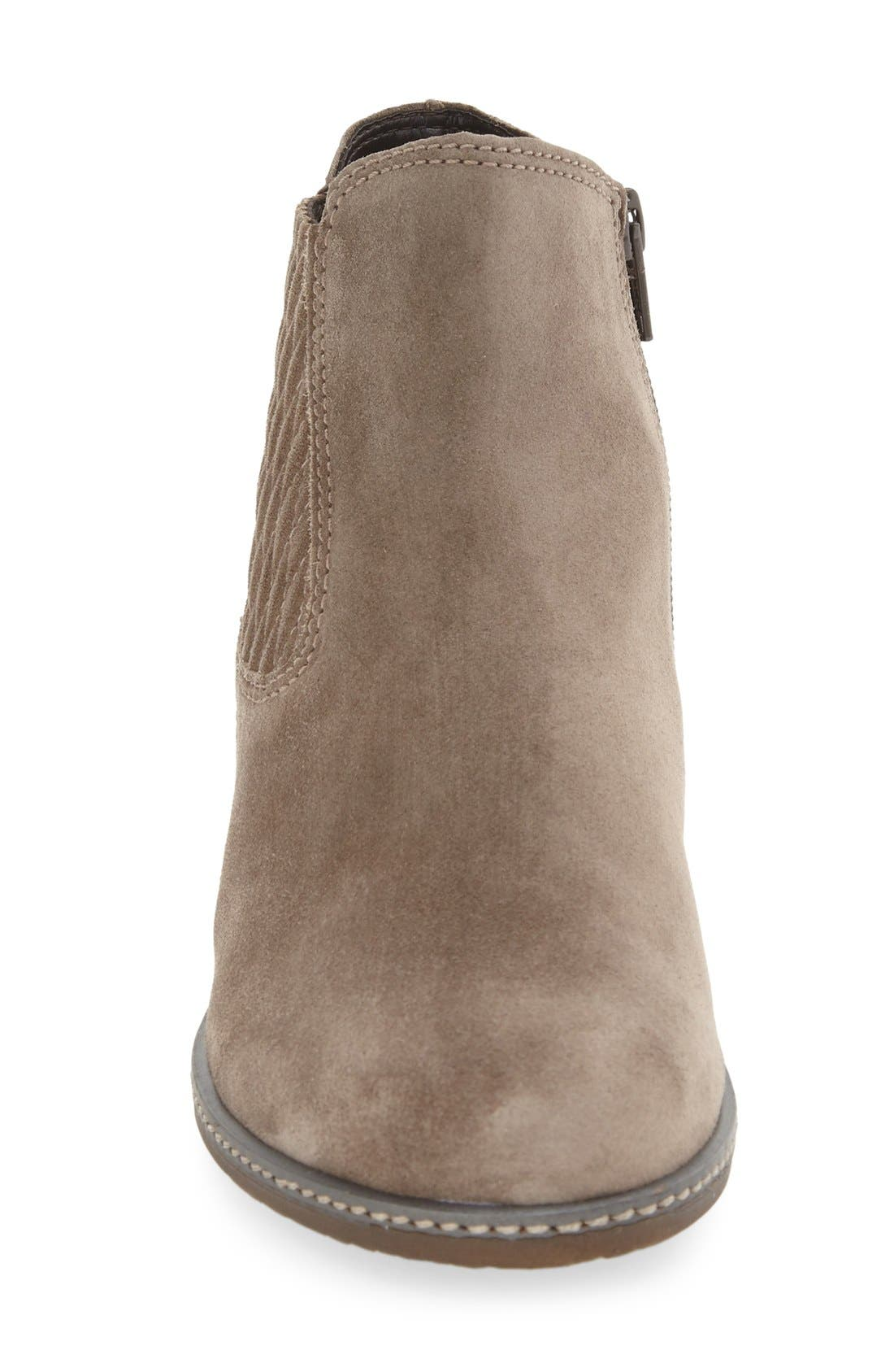Chelsea Boot,                             Alternate thumbnail 3, color,                             GREY LEATHER