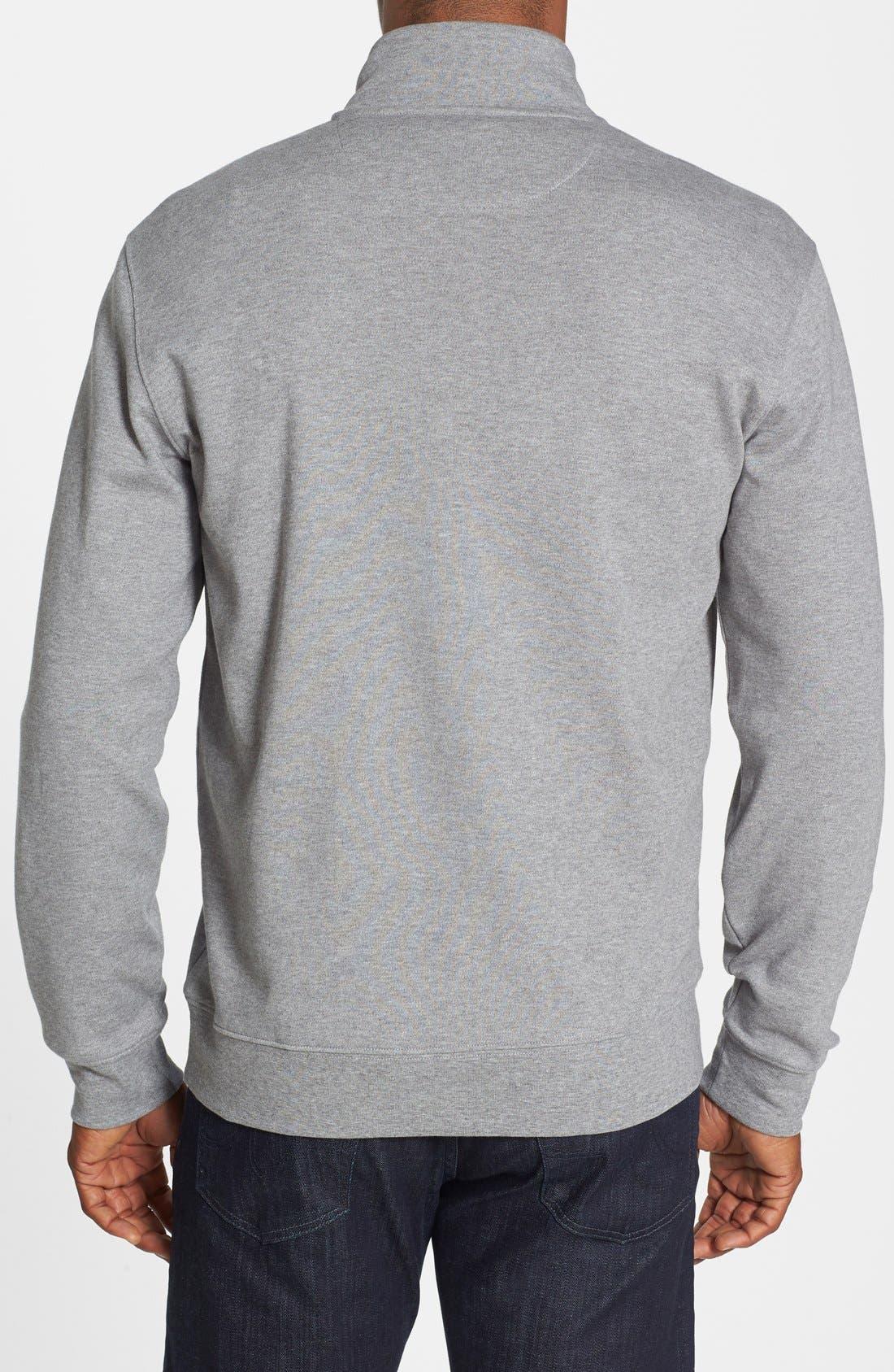 Quarter Zip Cotton Jersey Sweatshirt,                             Alternate thumbnail 2, color,                             020