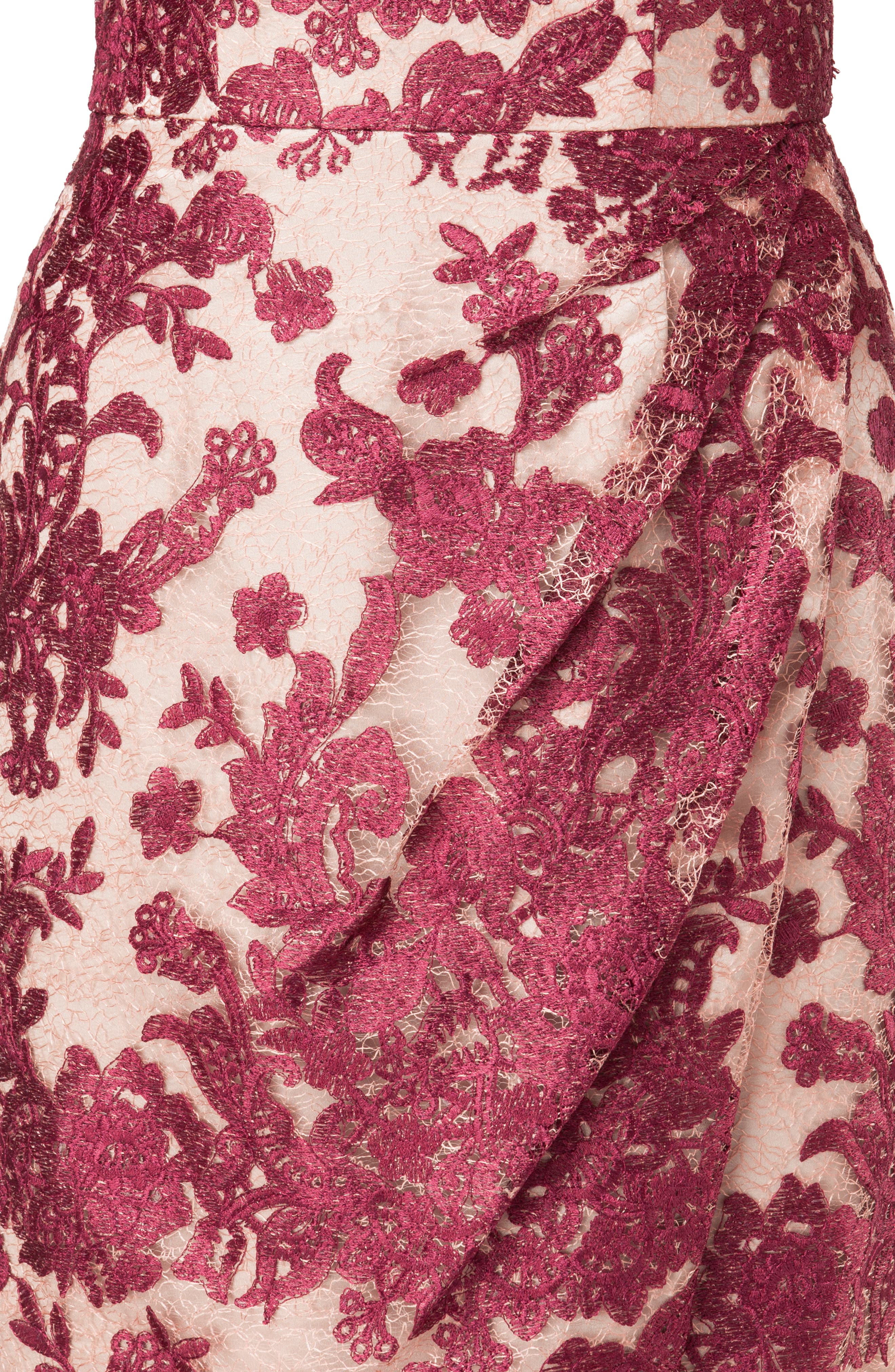 Embroidered Lace Gown,                             Alternate thumbnail 5, color,