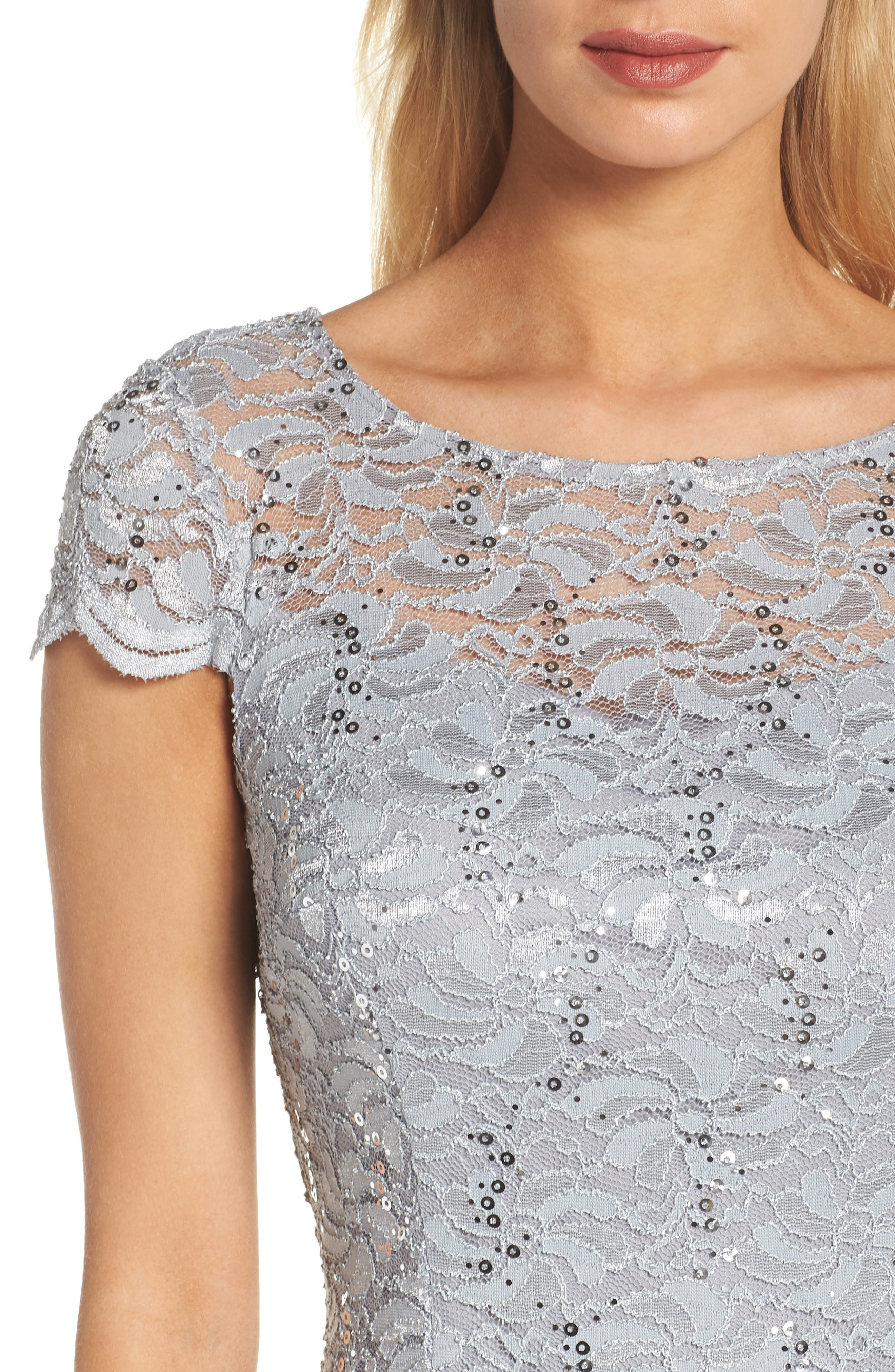 Lace Sheath Dress,                             Alternate thumbnail 4, color,                             050