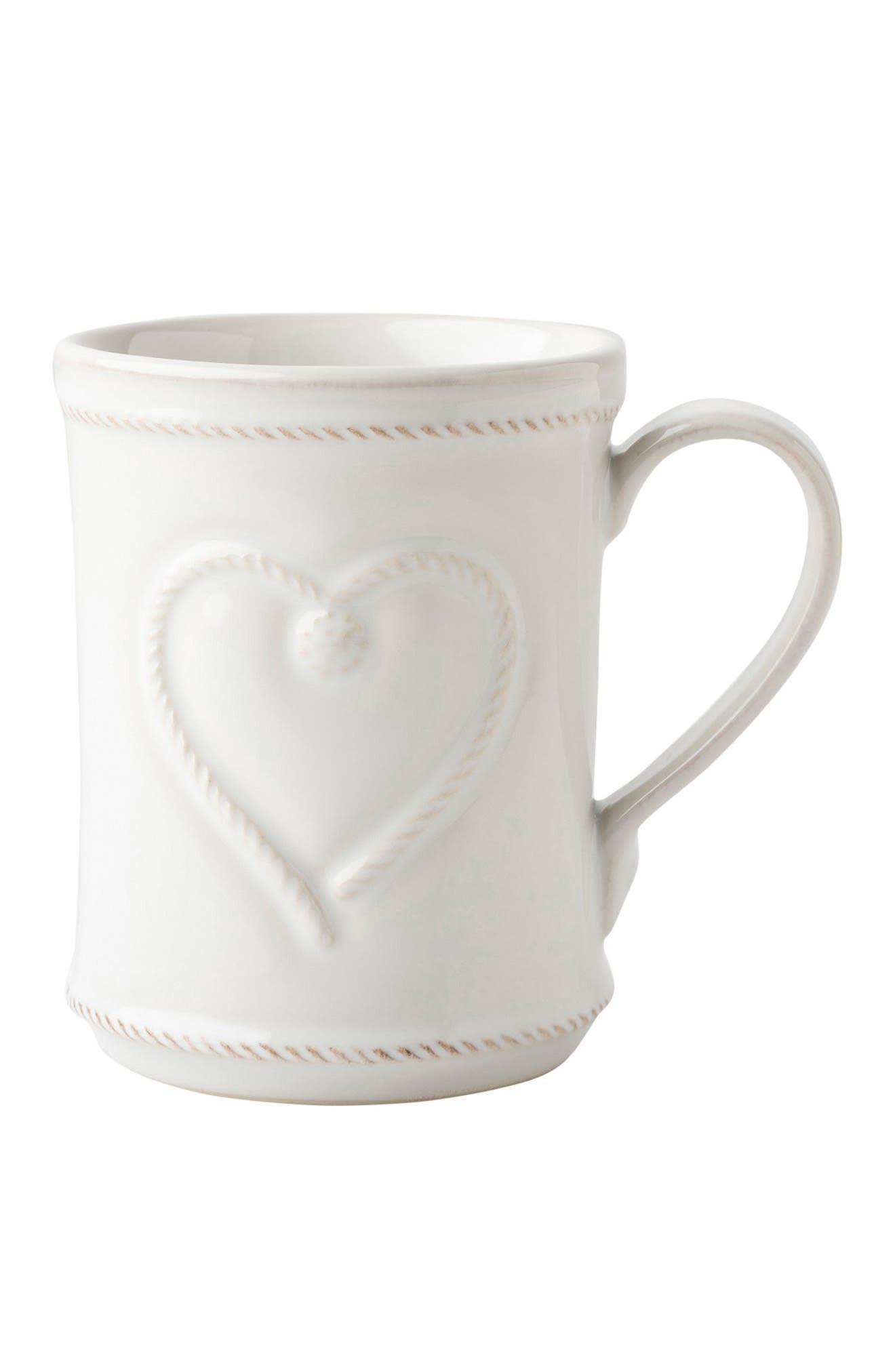 Cupfull of Love Ceramic Mug,                             Main thumbnail 1, color,                             WHITE