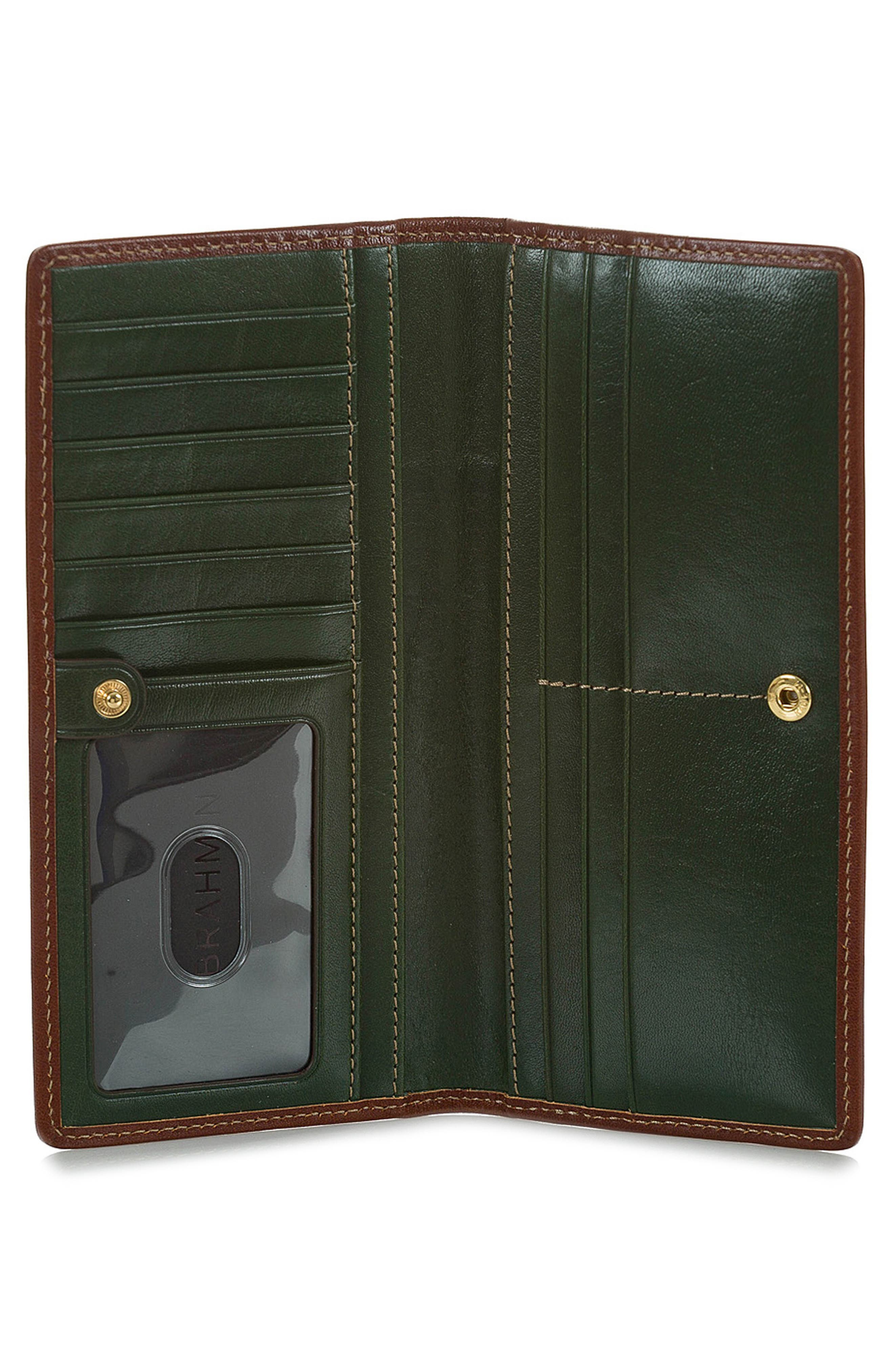 Ady Leather Wallet,                             Alternate thumbnail 2, color,                             HUNTER
