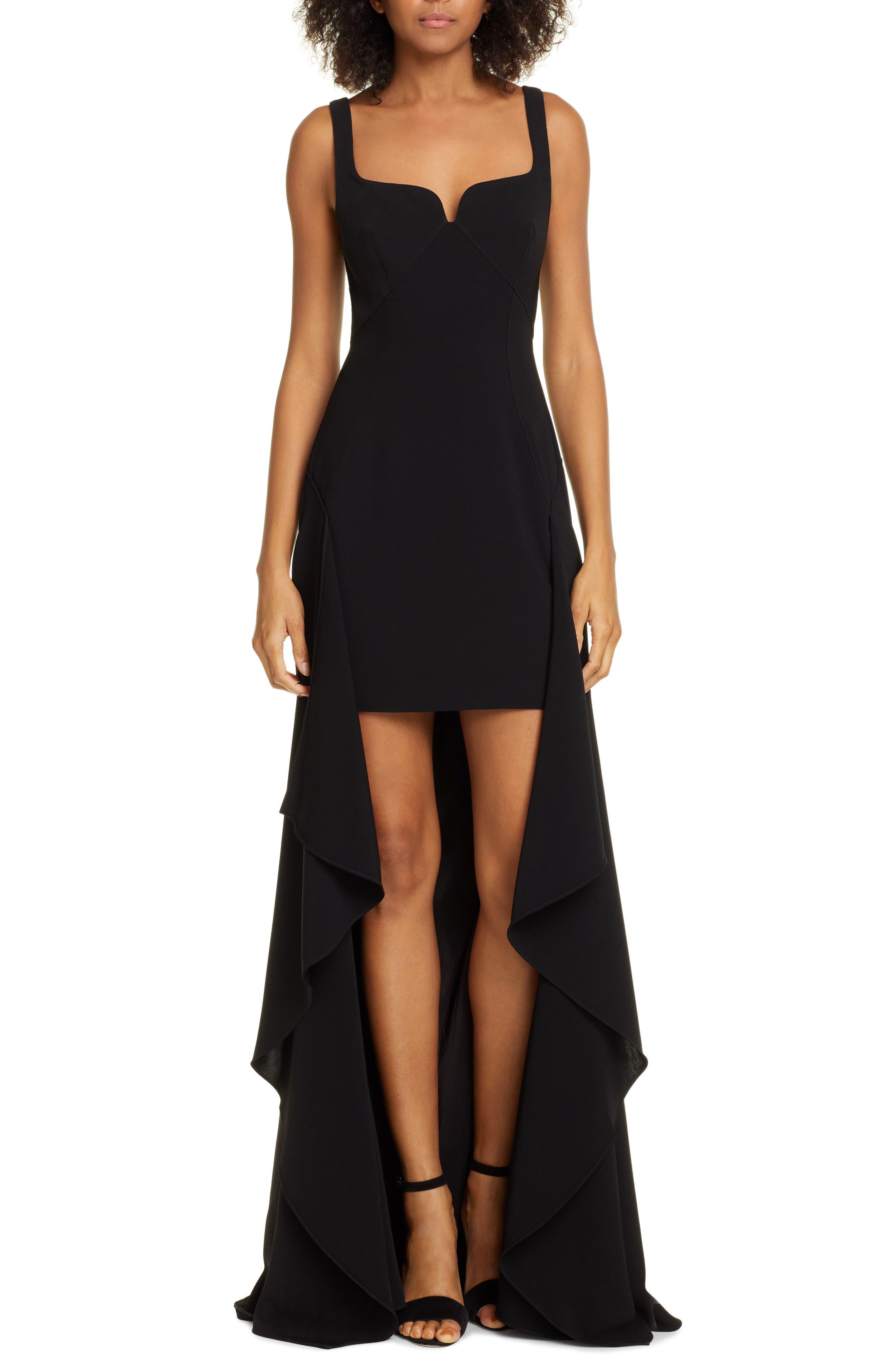 Cinq A Sept Lottie High/low Evening Dress, Black
