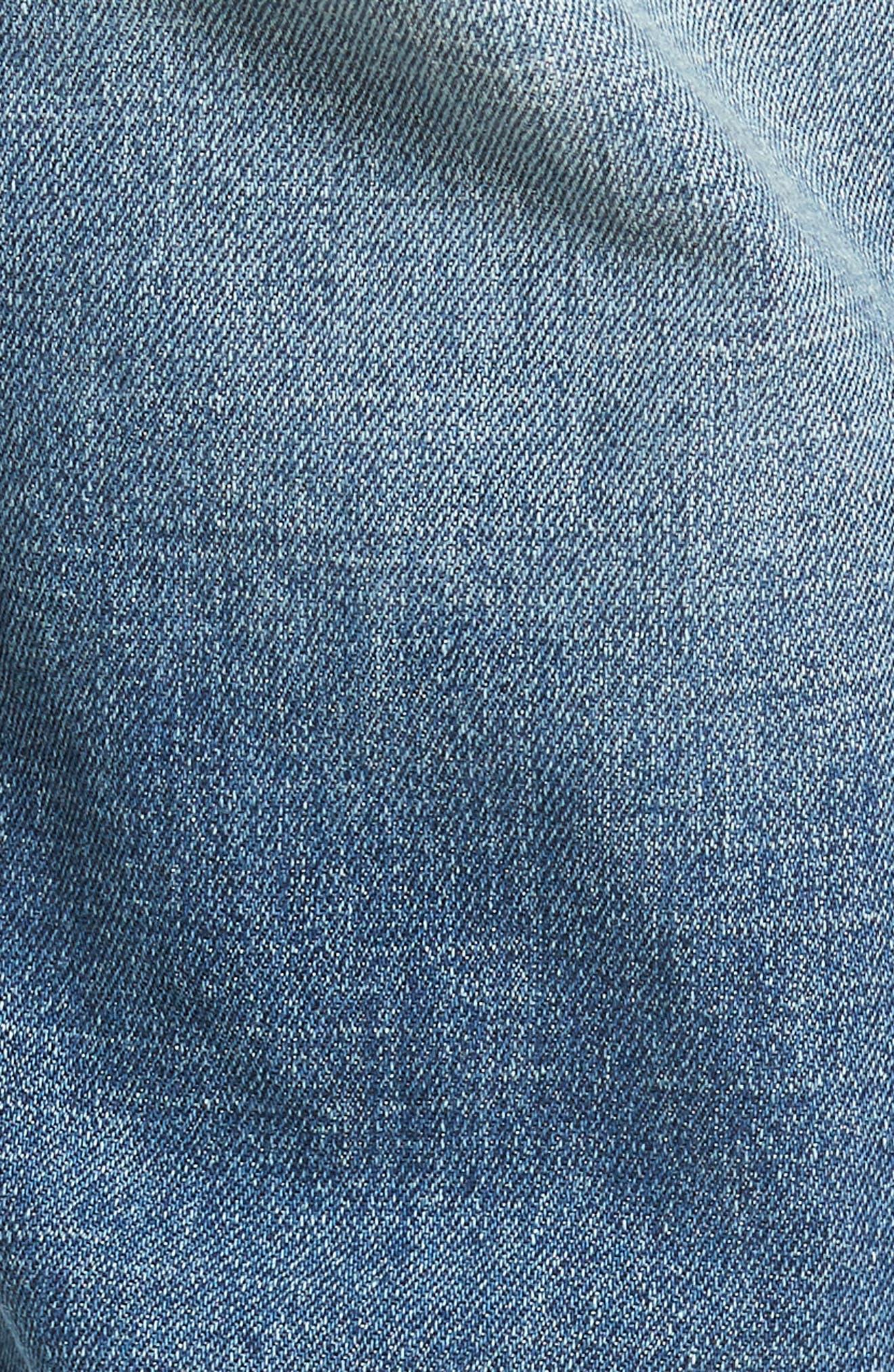 Slim Fit Side Stripe Jeans,                             Alternate thumbnail 5, color,                             BLUE STALEY WASH