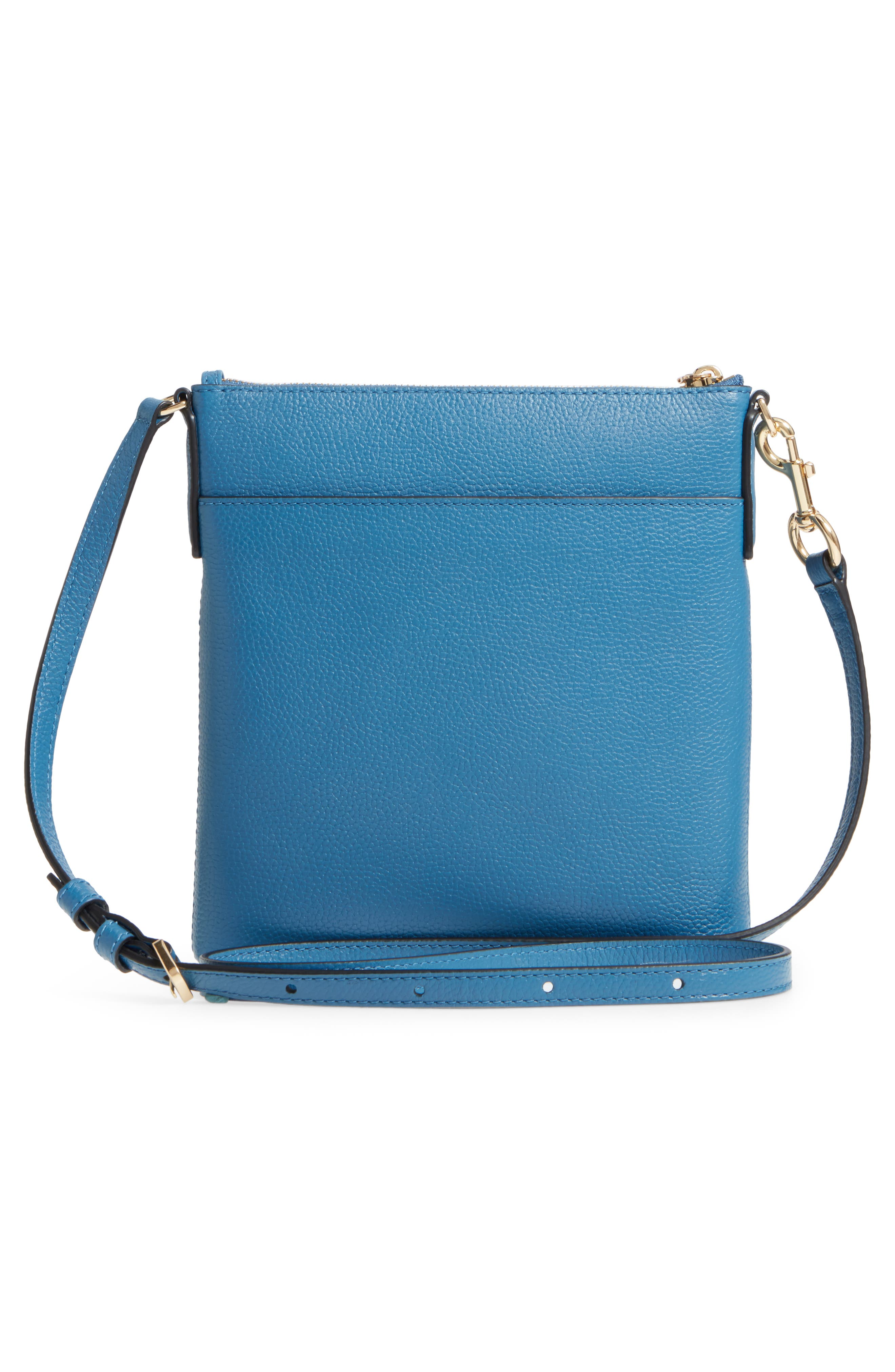 Recruit North/South Leather Crossbody Bag,                             Alternate thumbnail 3, color,                             476