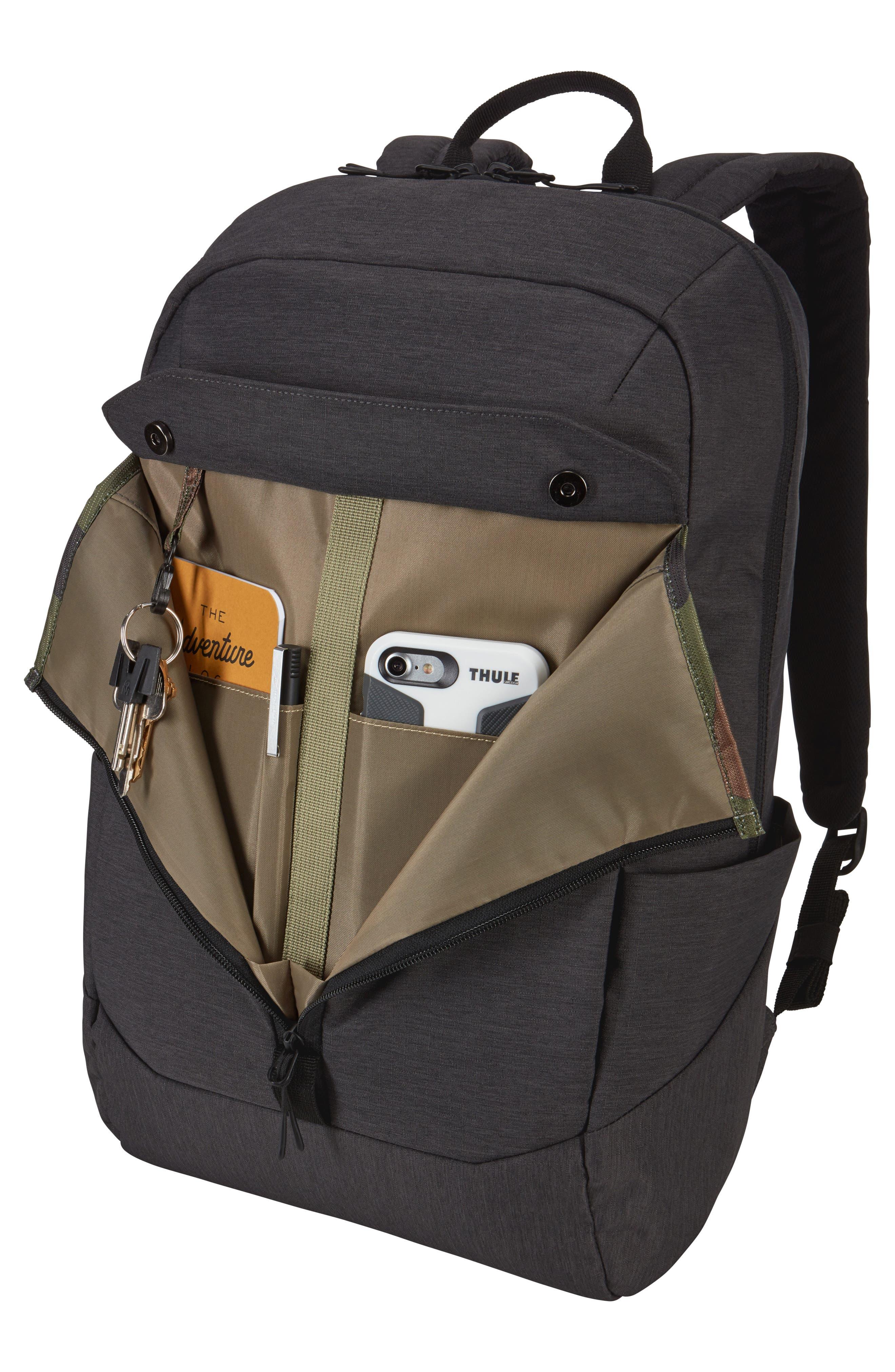 THULE,                             Lithos Backpack,                             Alternate thumbnail 3, color,                             BLACK
