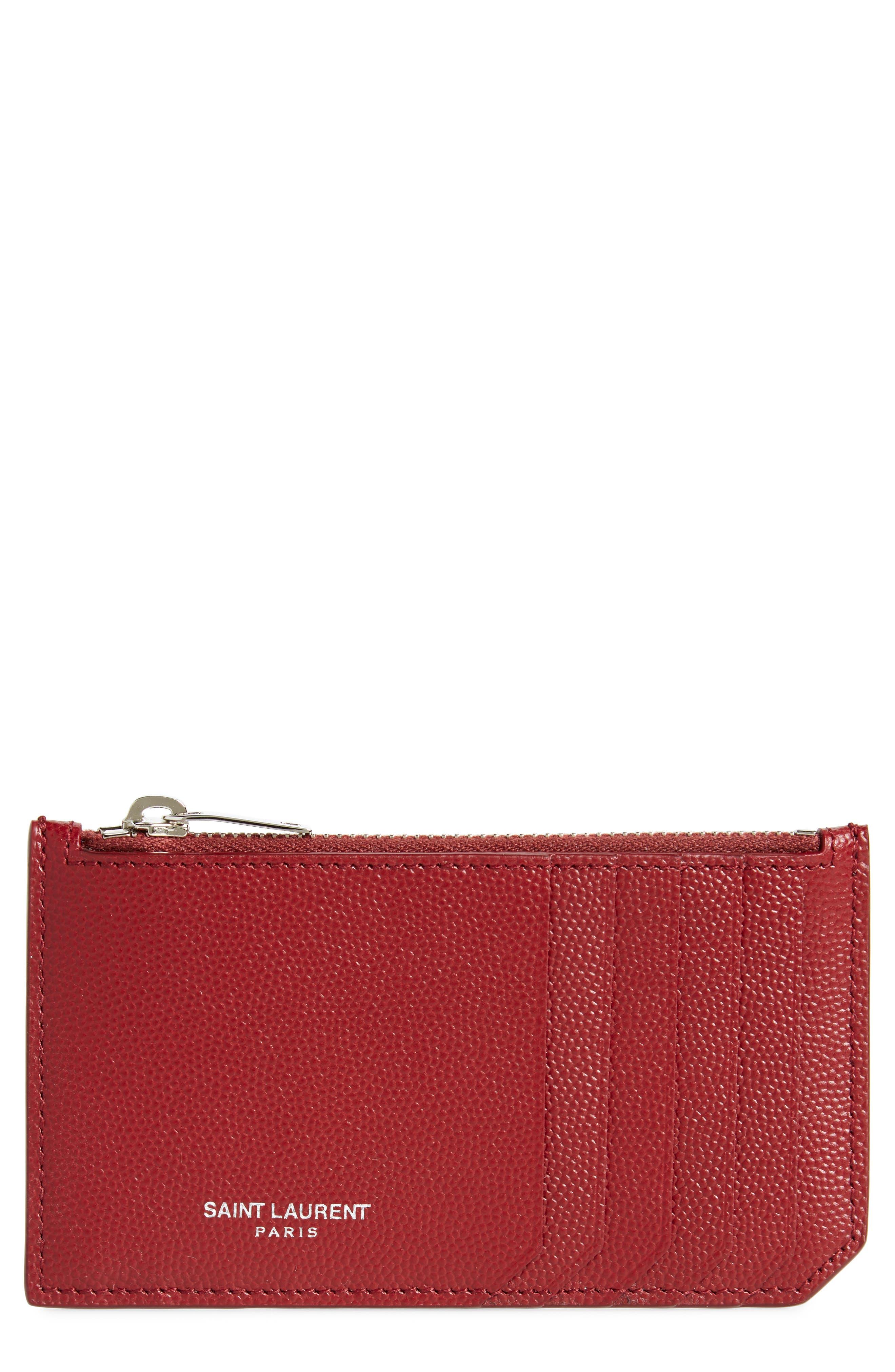 Pebble Grain Leather Zip Wallet,                             Main thumbnail 2, color,