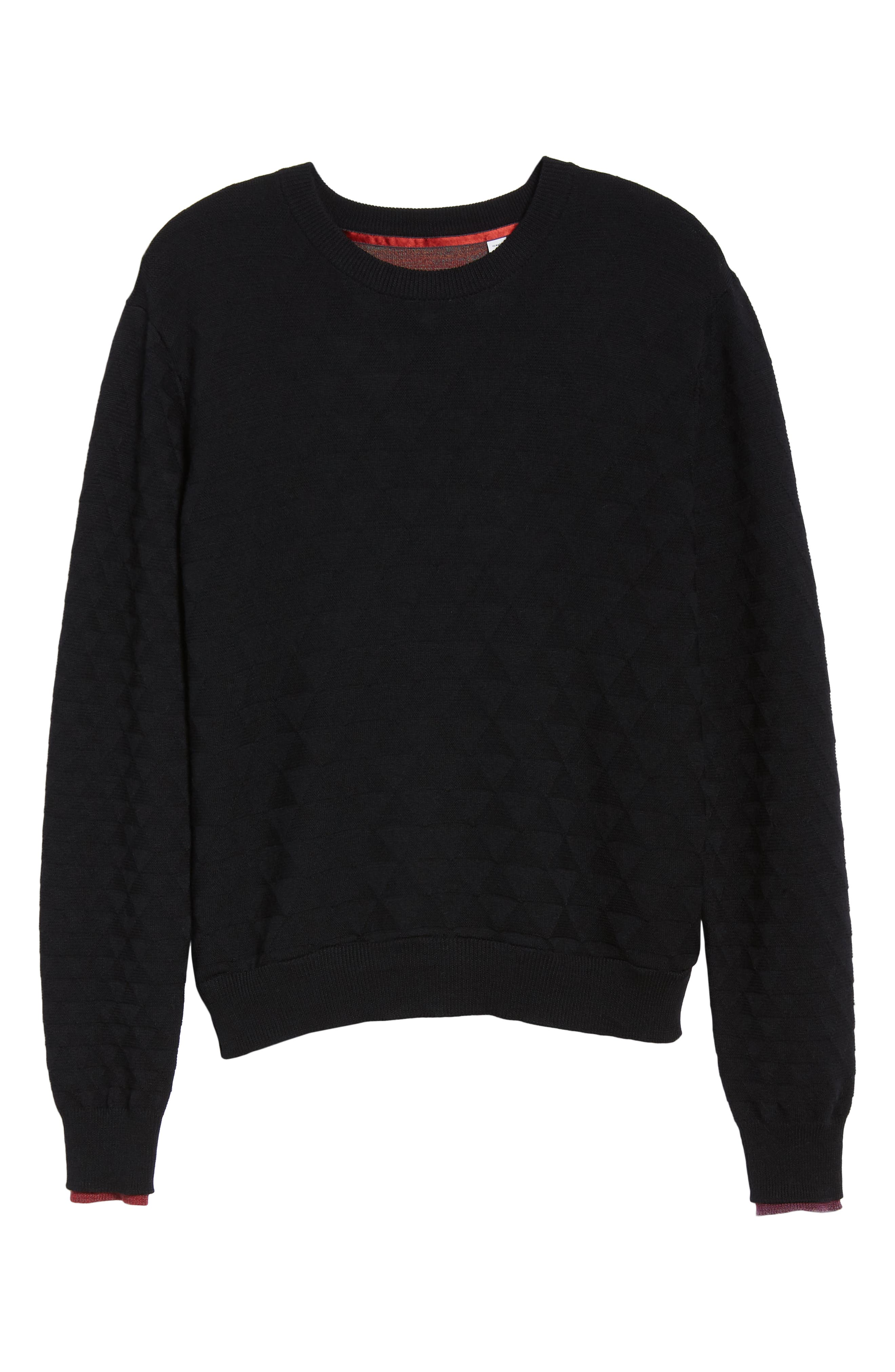 Blackburn Classic Fit Sweater,                             Alternate thumbnail 6, color,                             BLACK