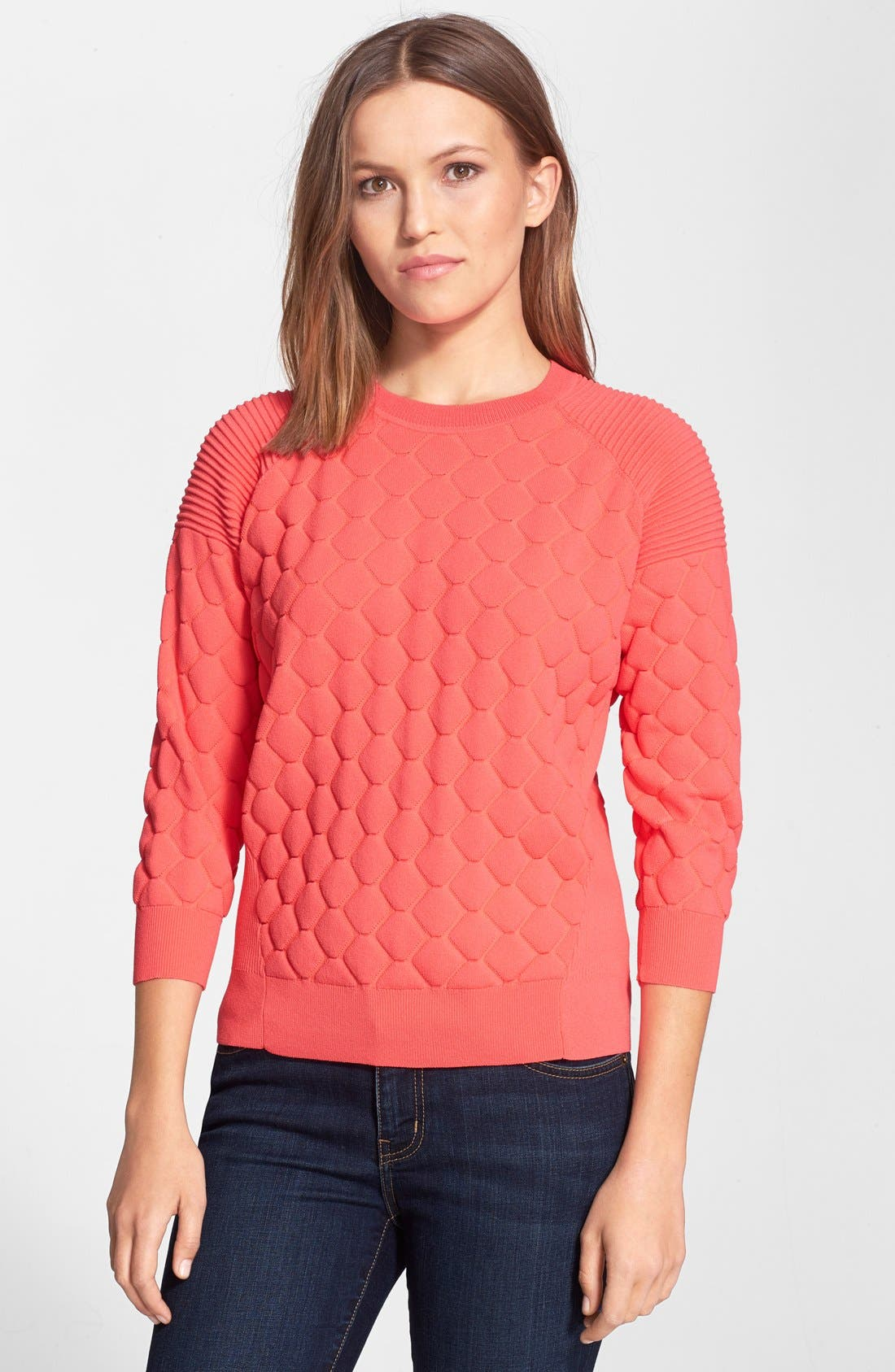 'Maida' Quilted Sweater,                         Main,                         color, 810