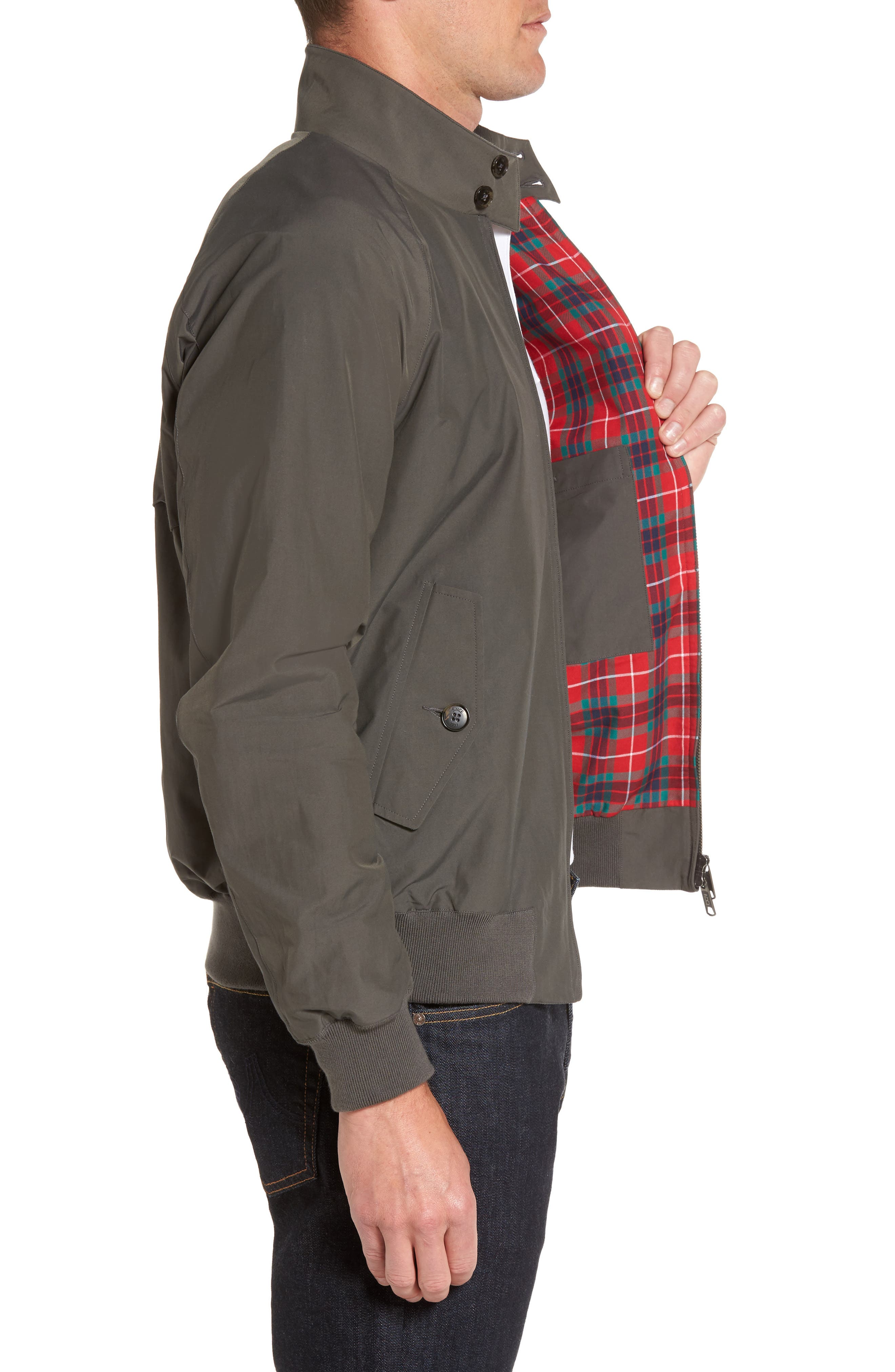 G9 Water Resistant Harrington Jacket,                             Alternate thumbnail 3, color,                             021