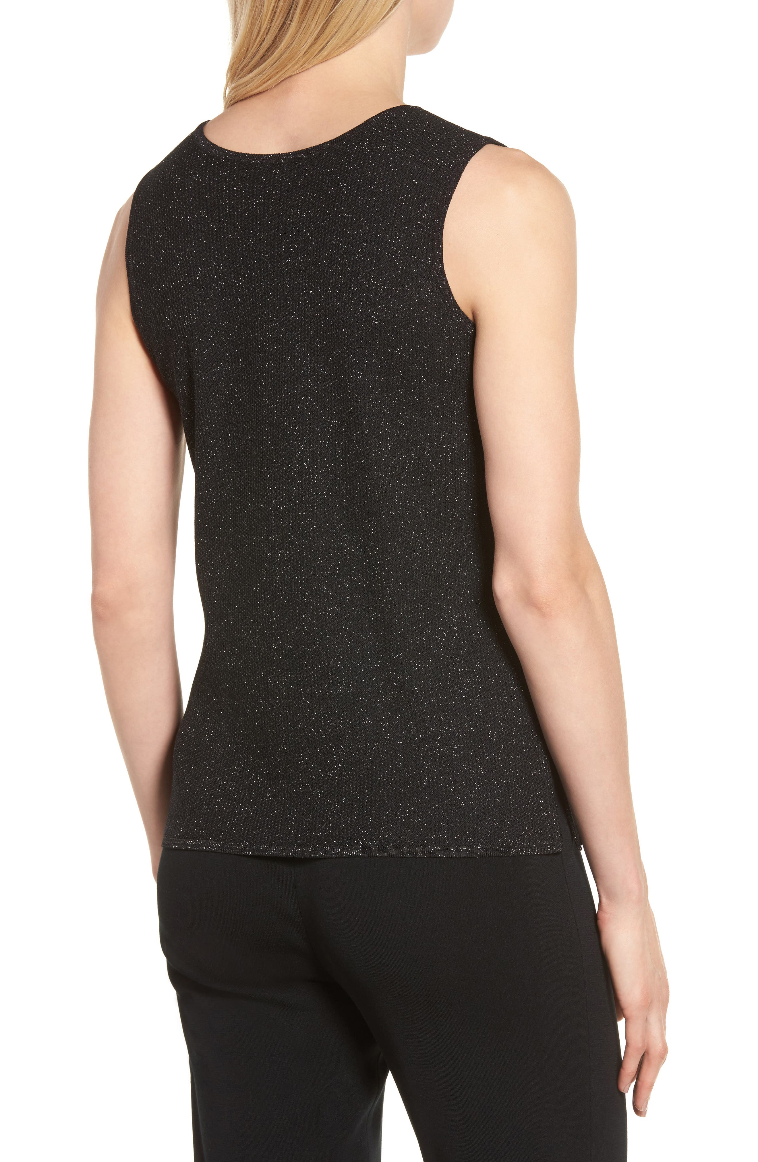 Scoop Neck Metallic Knit Tank,                             Alternate thumbnail 2, color,