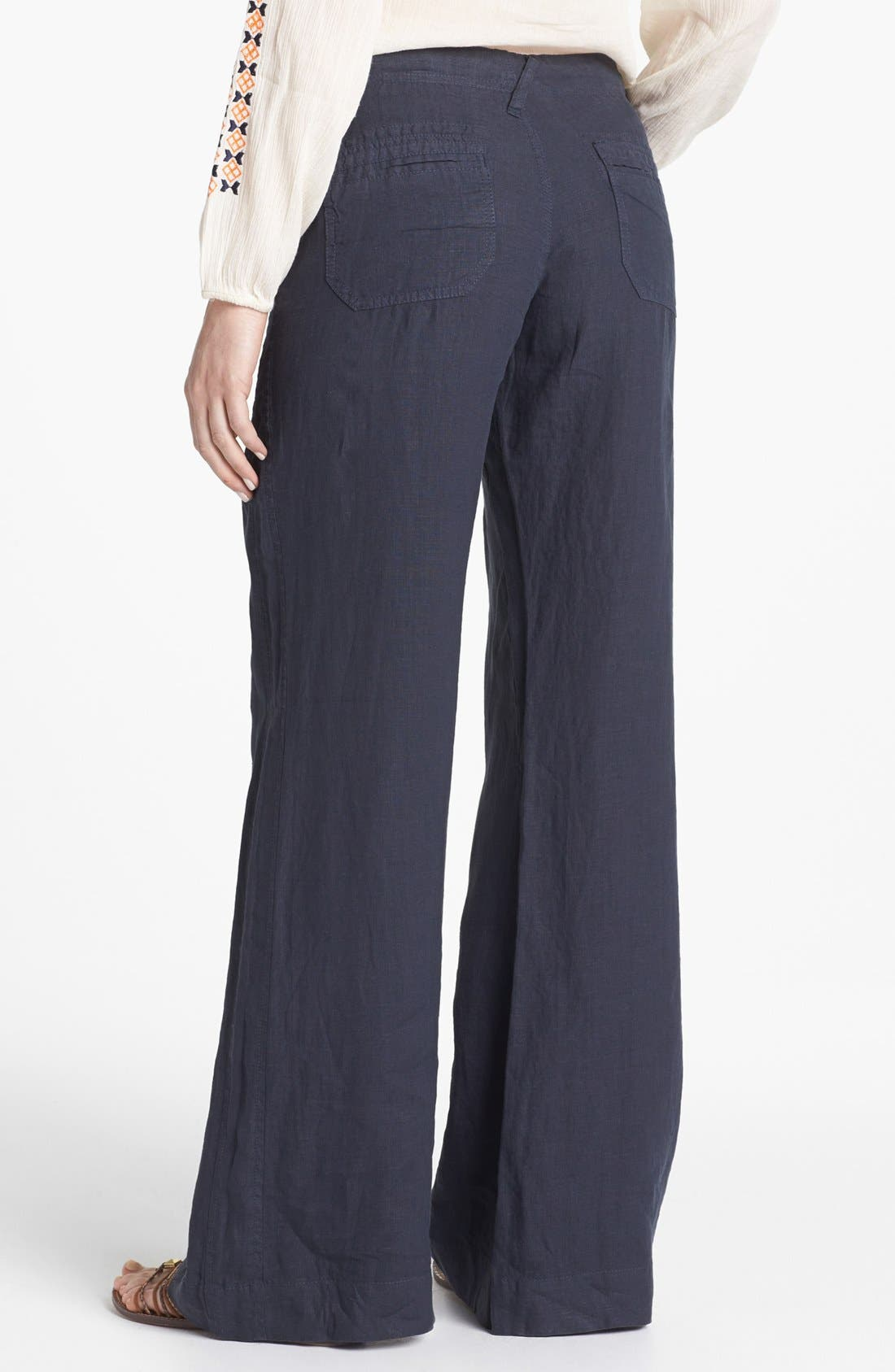 Wide Leg Linen Pants,                             Alternate thumbnail 10, color,