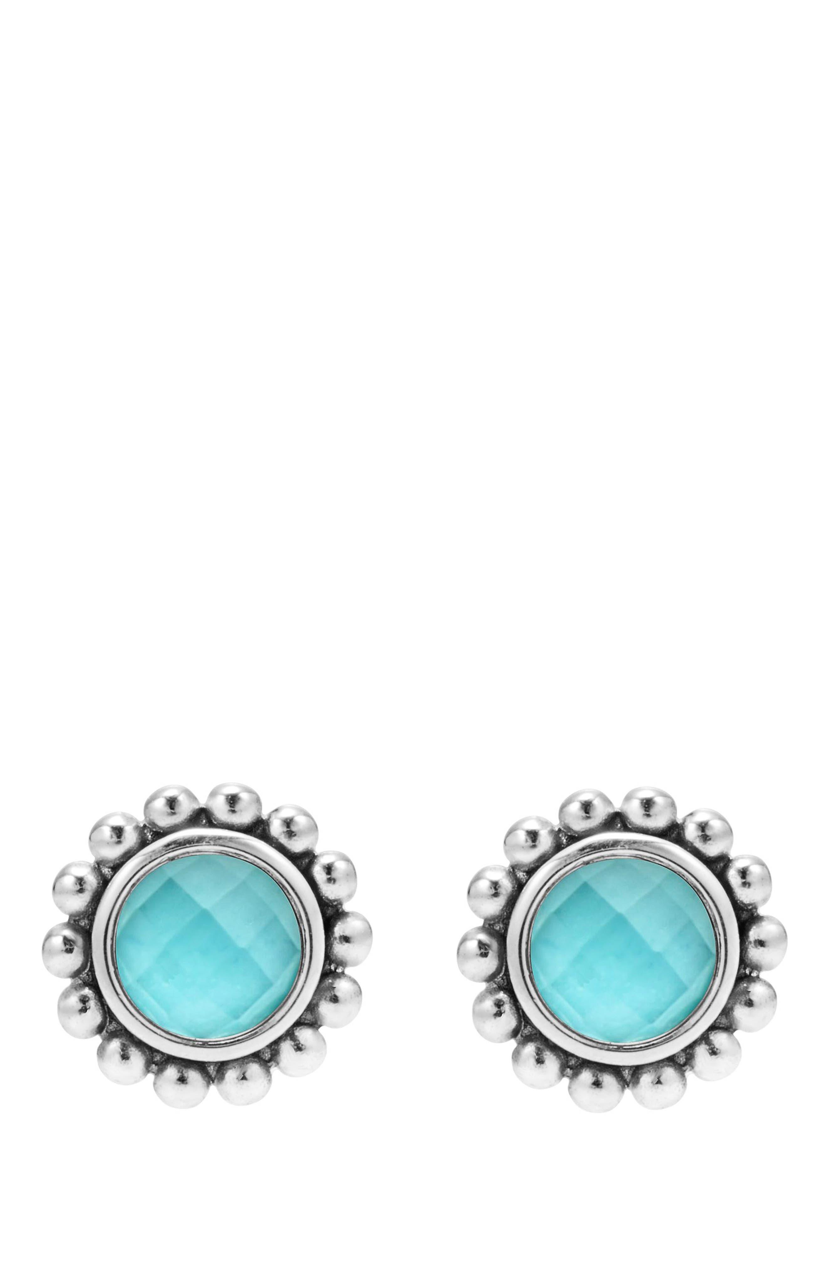 Maya Doublet Stud Earrings,                             Alternate thumbnail 2, color,                             TURQUOISE