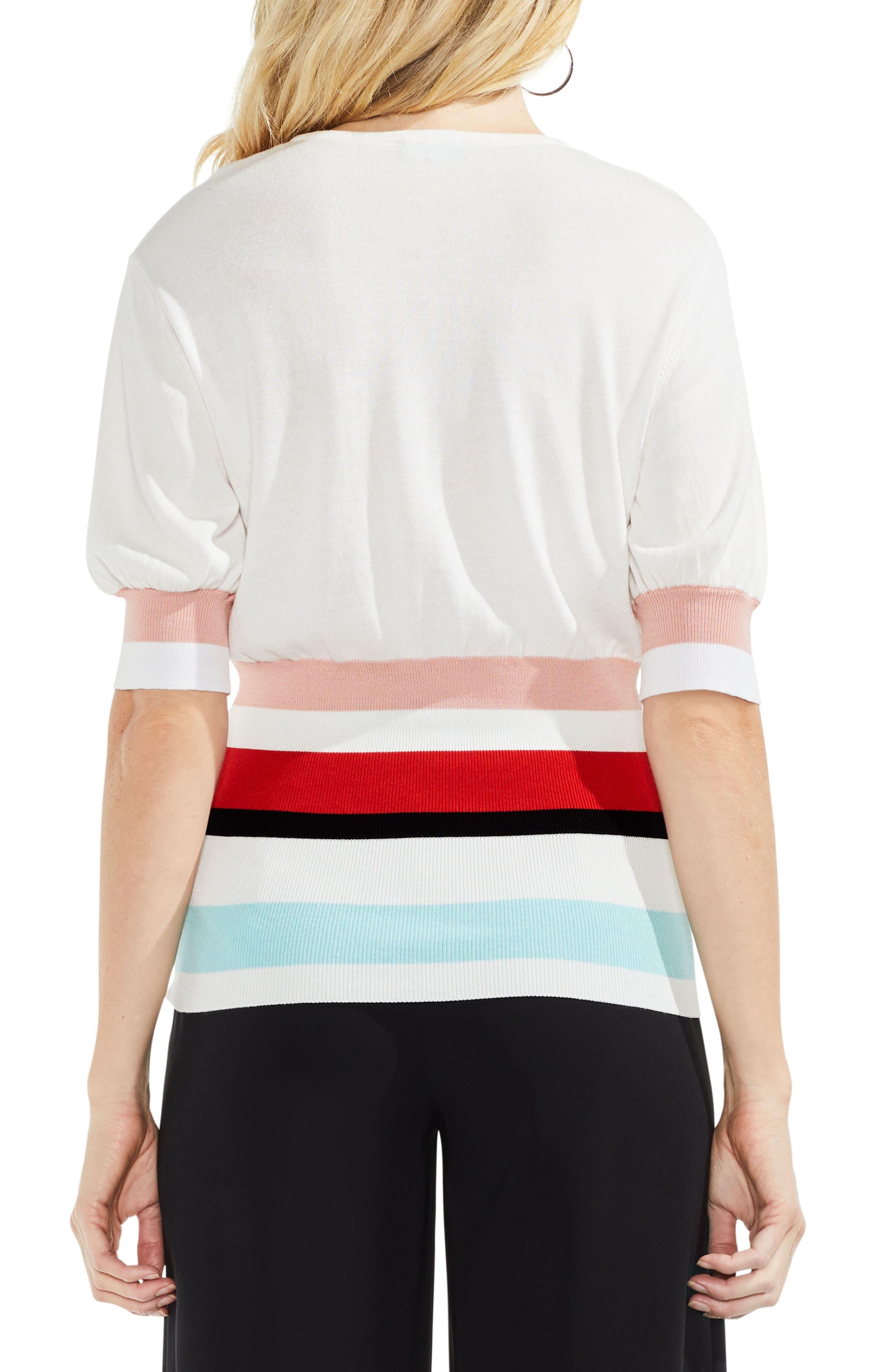 Elbow Bubble Sleeve Colorblock Sweater,                             Alternate thumbnail 4, color,