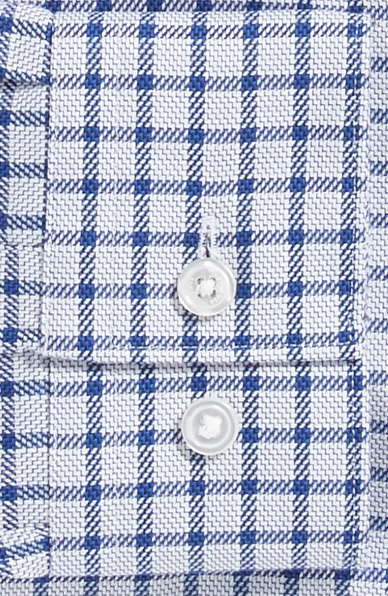 x Nordstrom Isaac Slim Fit Check Dress Shirt,                             Alternate thumbnail 6, color,                             BLUE