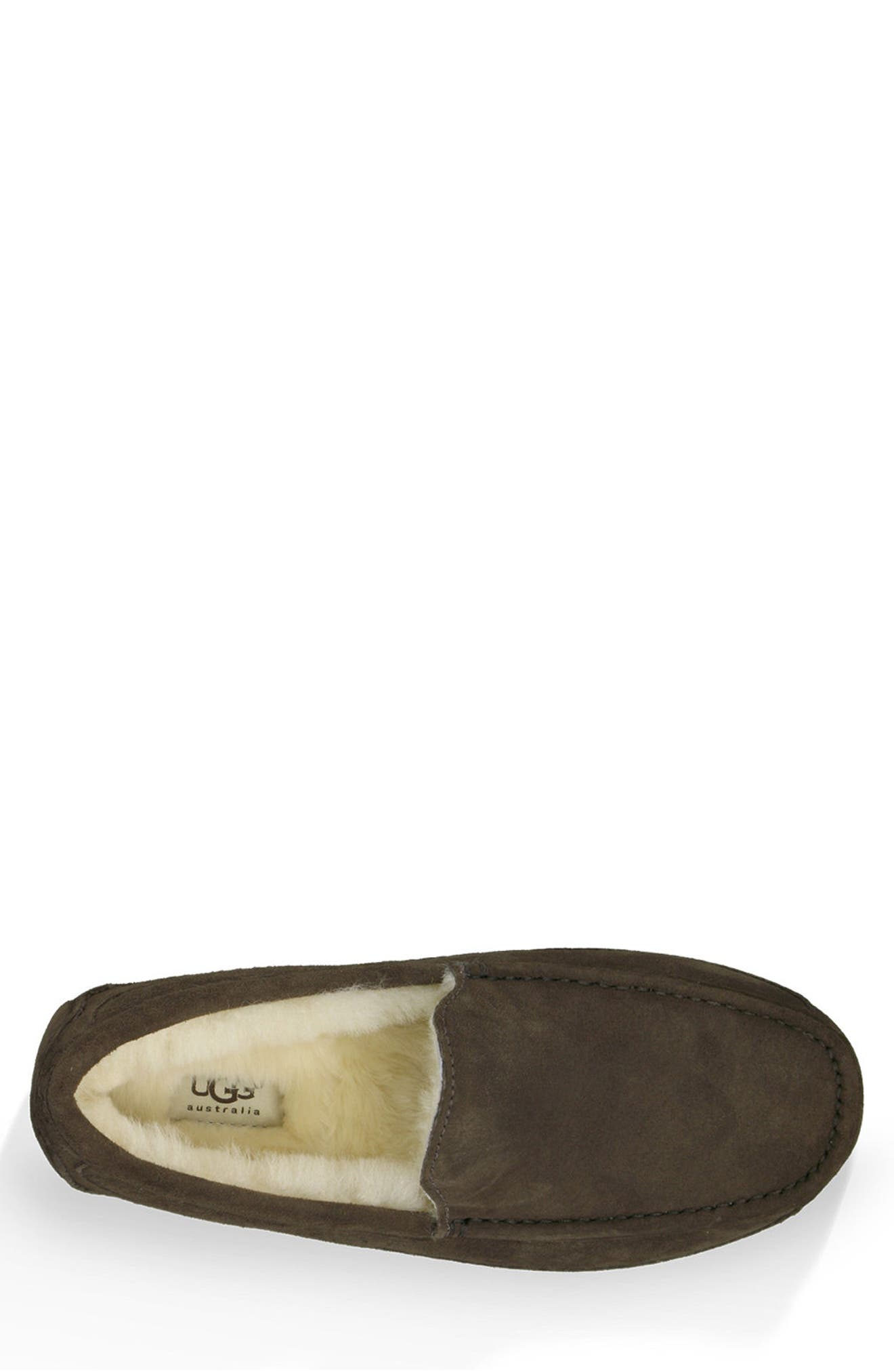 Ascot Slipper,                             Alternate thumbnail 4, color,                             ESPRESSO SUEDE