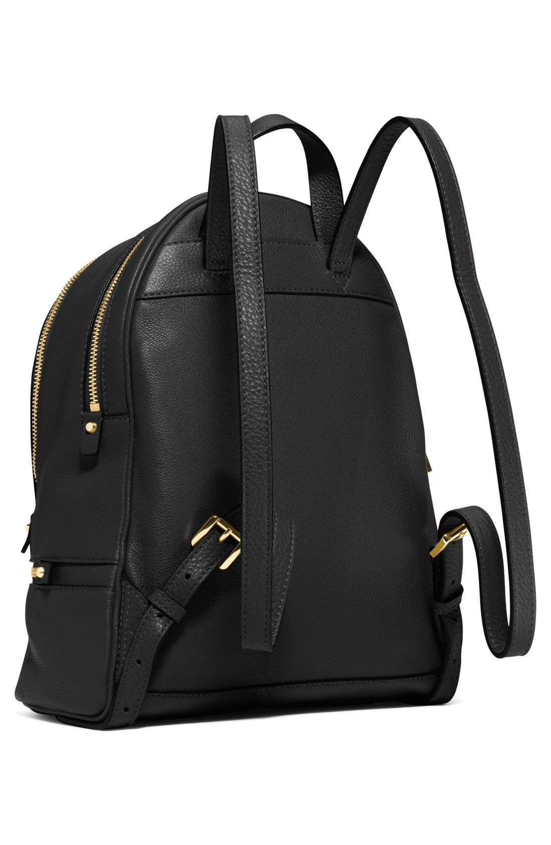'Extra Small Rhea Zip' Leather Backpack,                             Alternate thumbnail 14, color,