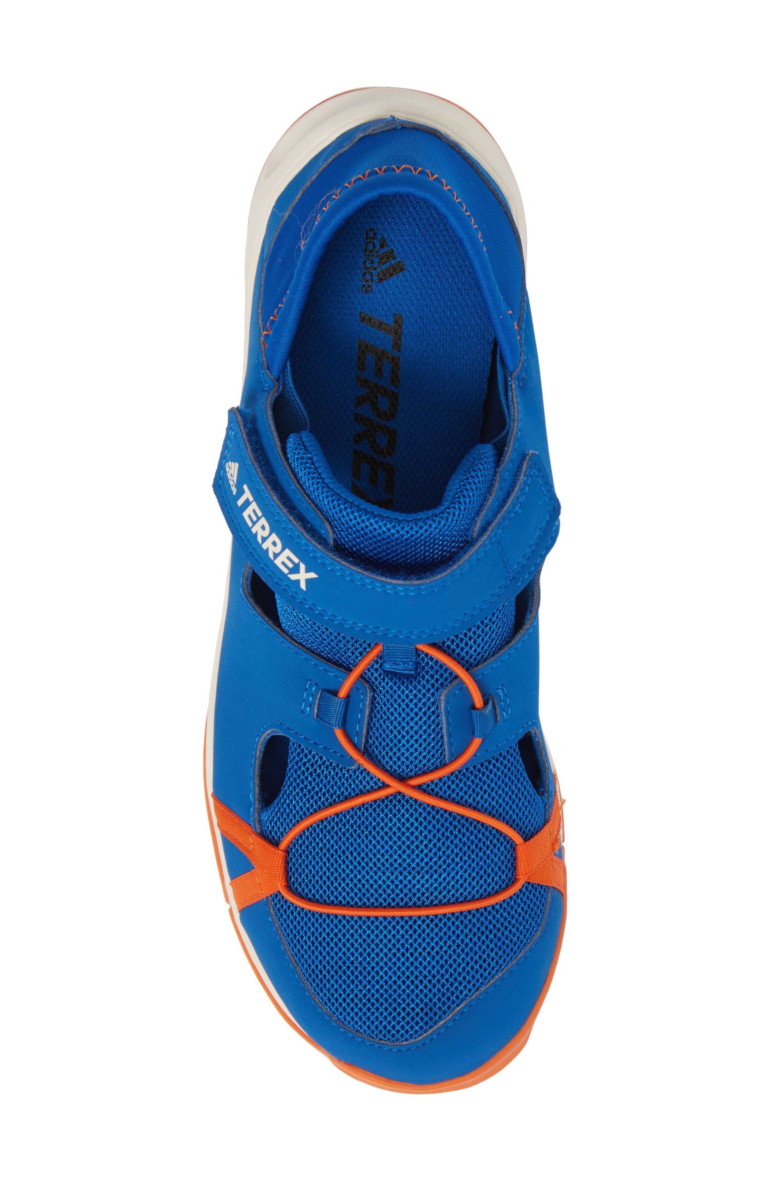 Terrex Tivid Sneaker,                             Alternate thumbnail 5, color,                             BLUE/ ORANGE/ CHALK WHITE