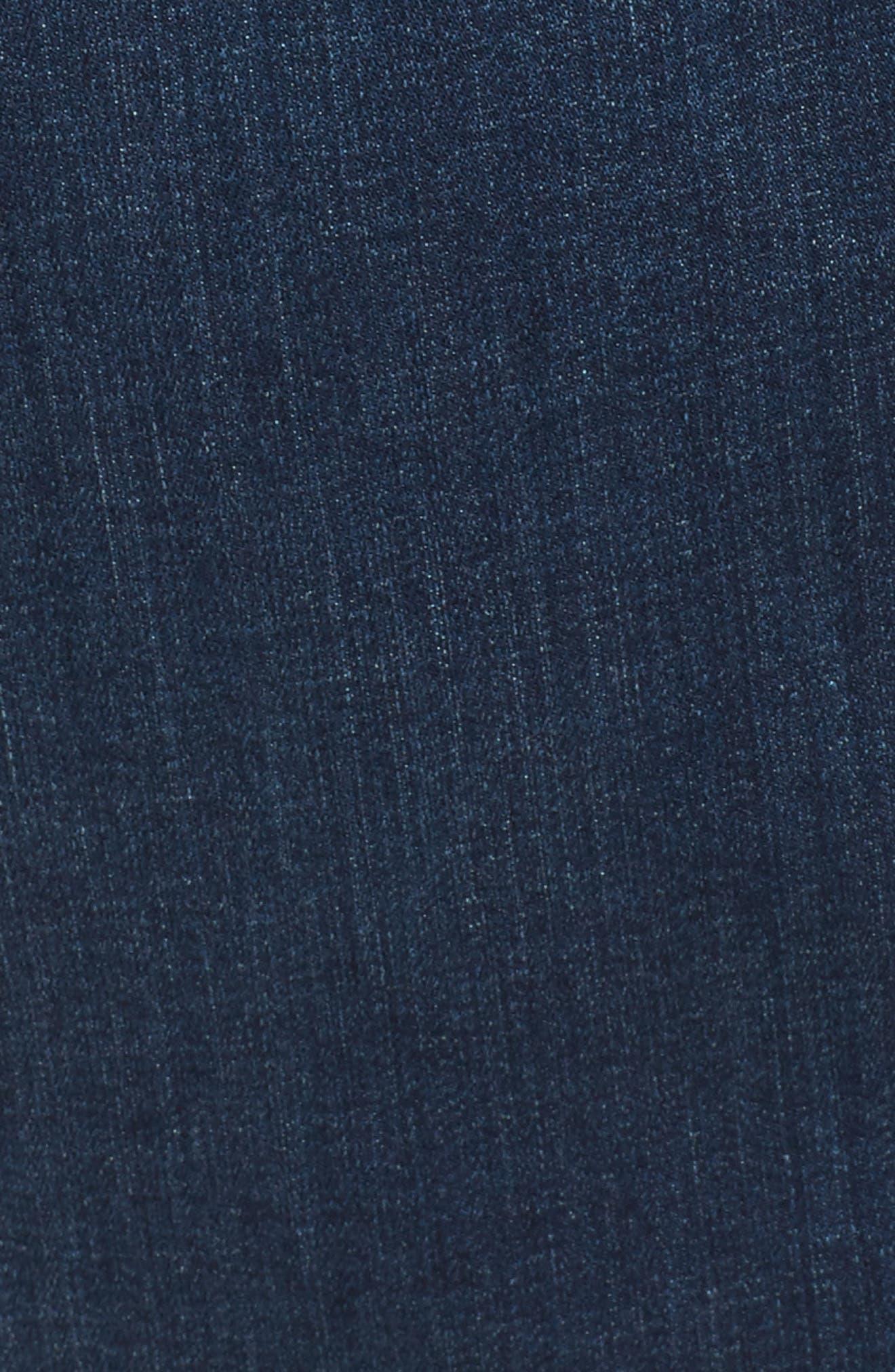 Denim Body-Con Dress,                             Alternate thumbnail 6, color,                             401