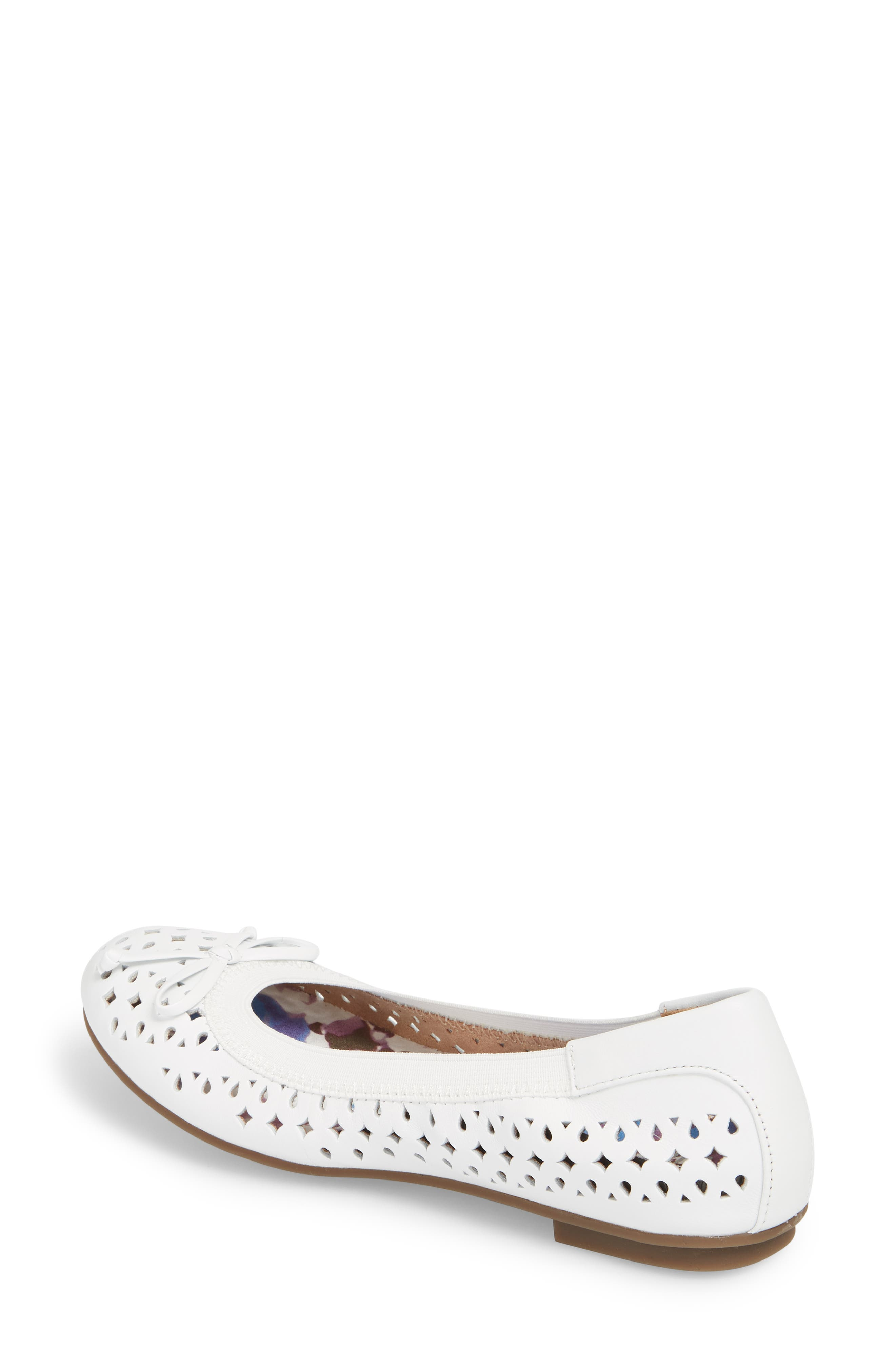 'Surin' Perforated Ballet Flat,                             Alternate thumbnail 2, color,                             100