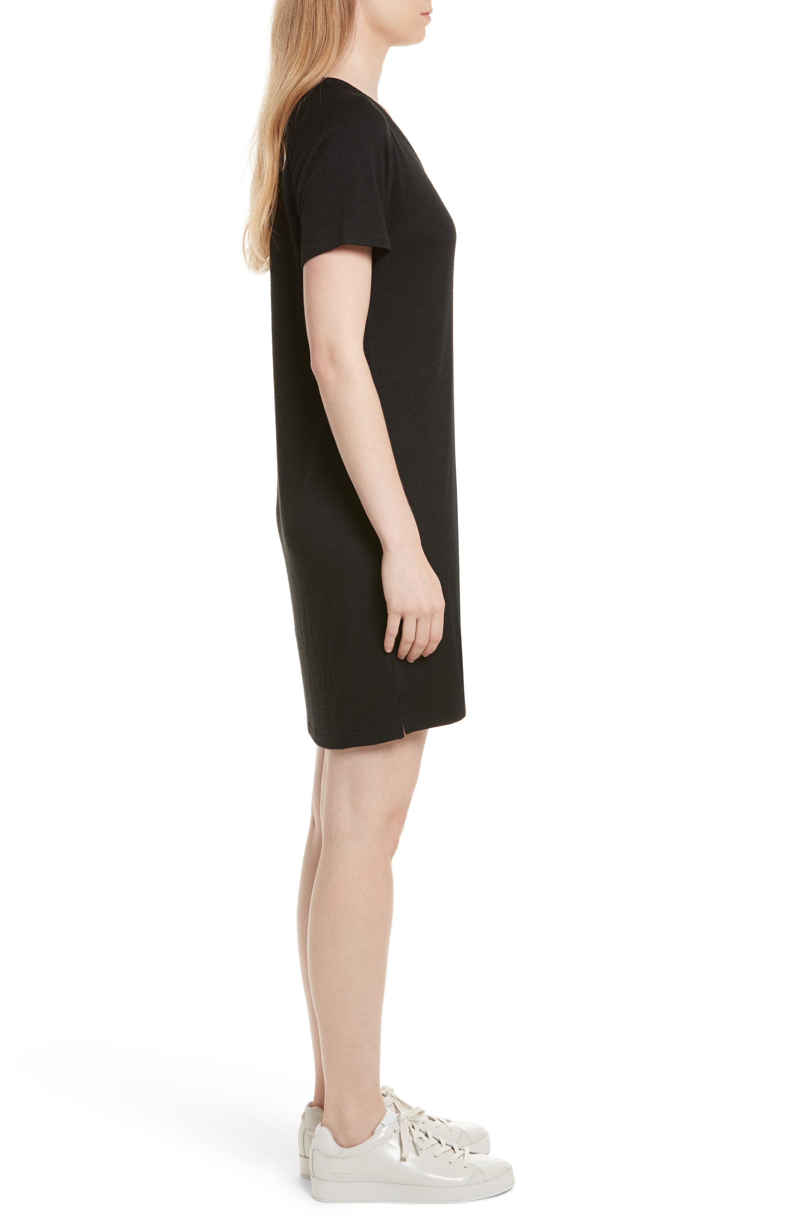 Raglan T-Shirt Dress,                             Alternate thumbnail 3, color,                             001