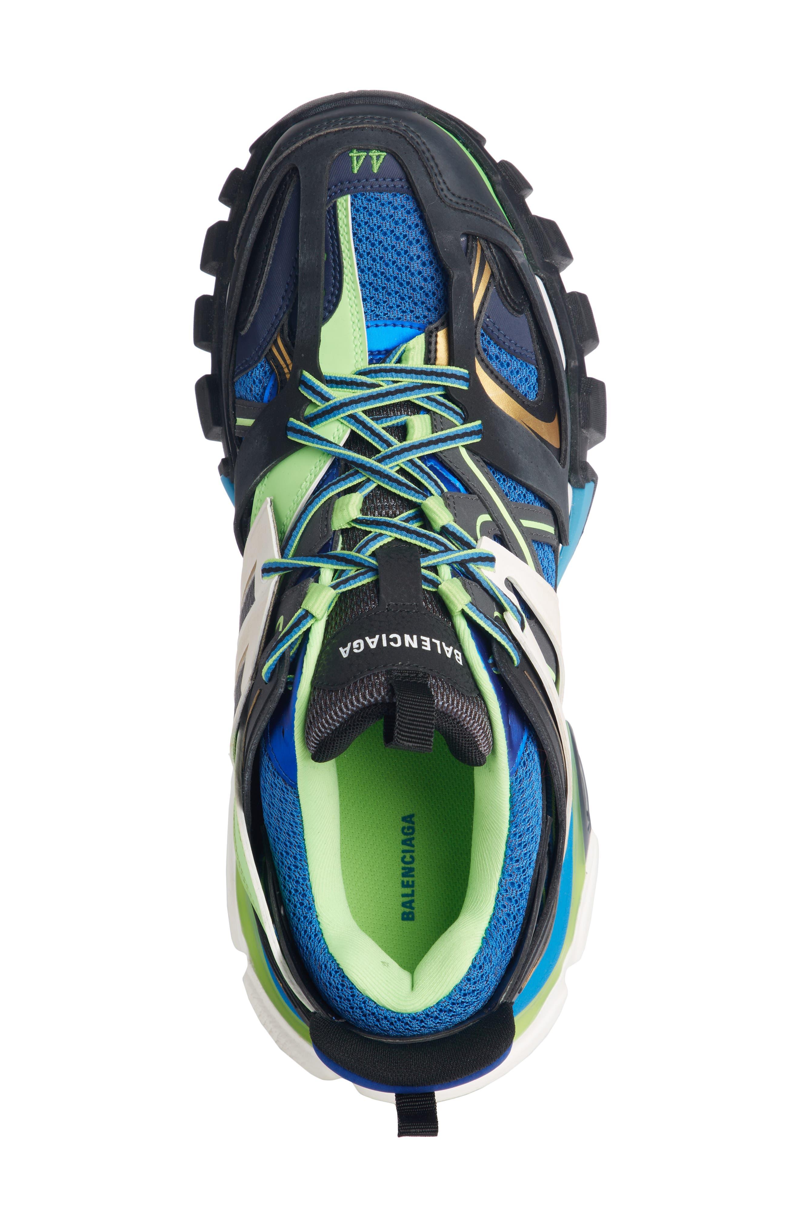 Track Sneaker,                             Alternate thumbnail 4, color,                             BLUE/ GREEN