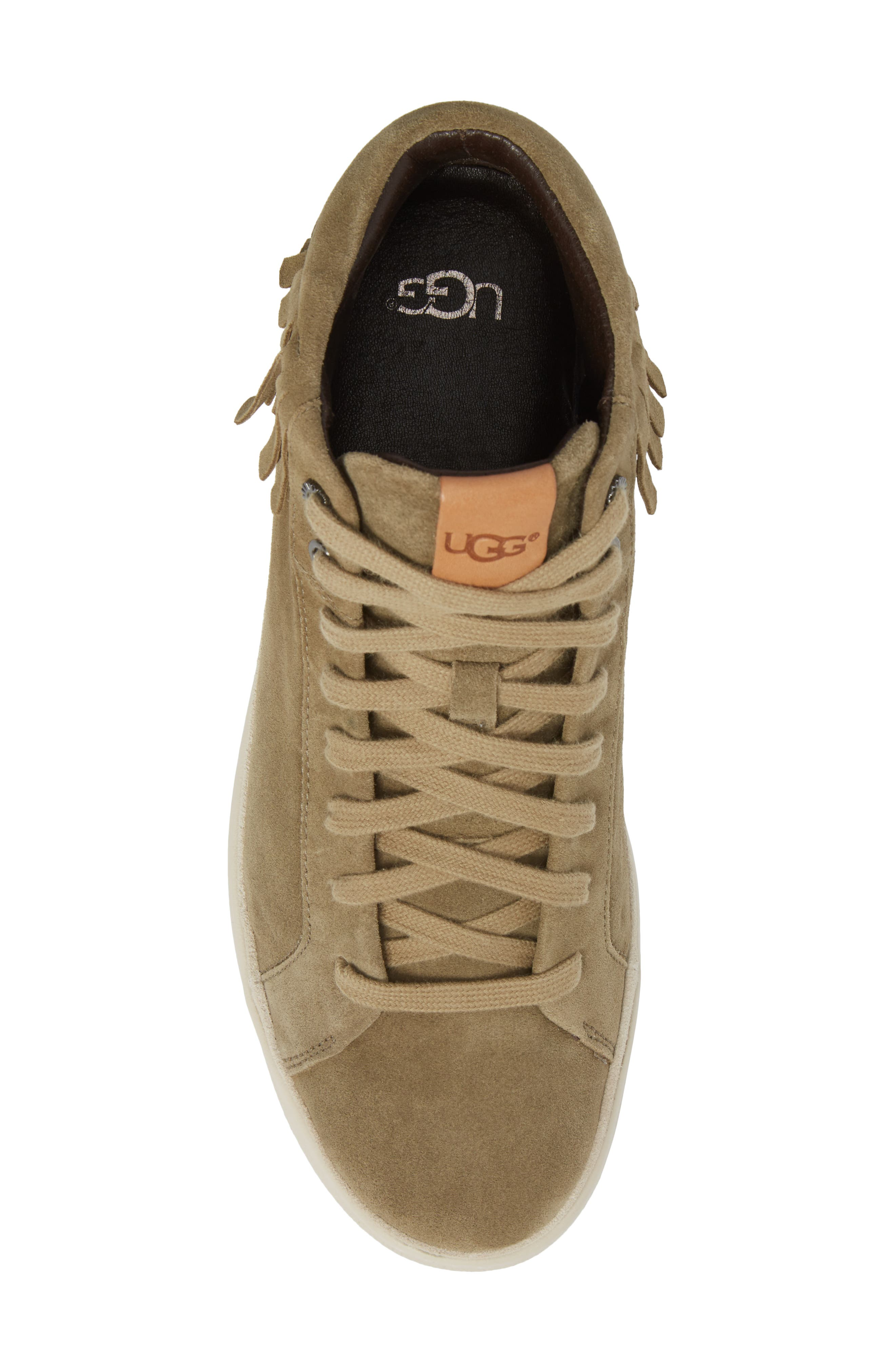 Brecken Fringe High-Top Sneaker,                             Alternate thumbnail 5, color,                             204