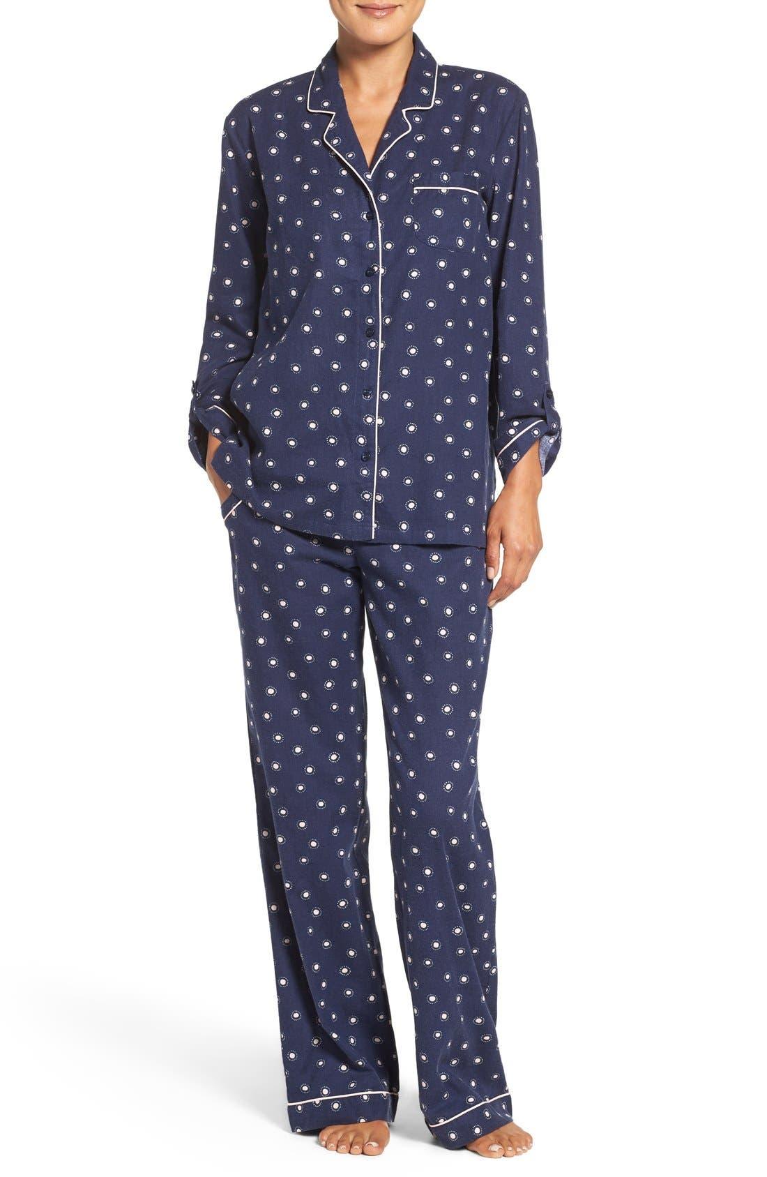 Cotton Twill Pajamas,                             Main thumbnail 7, color,