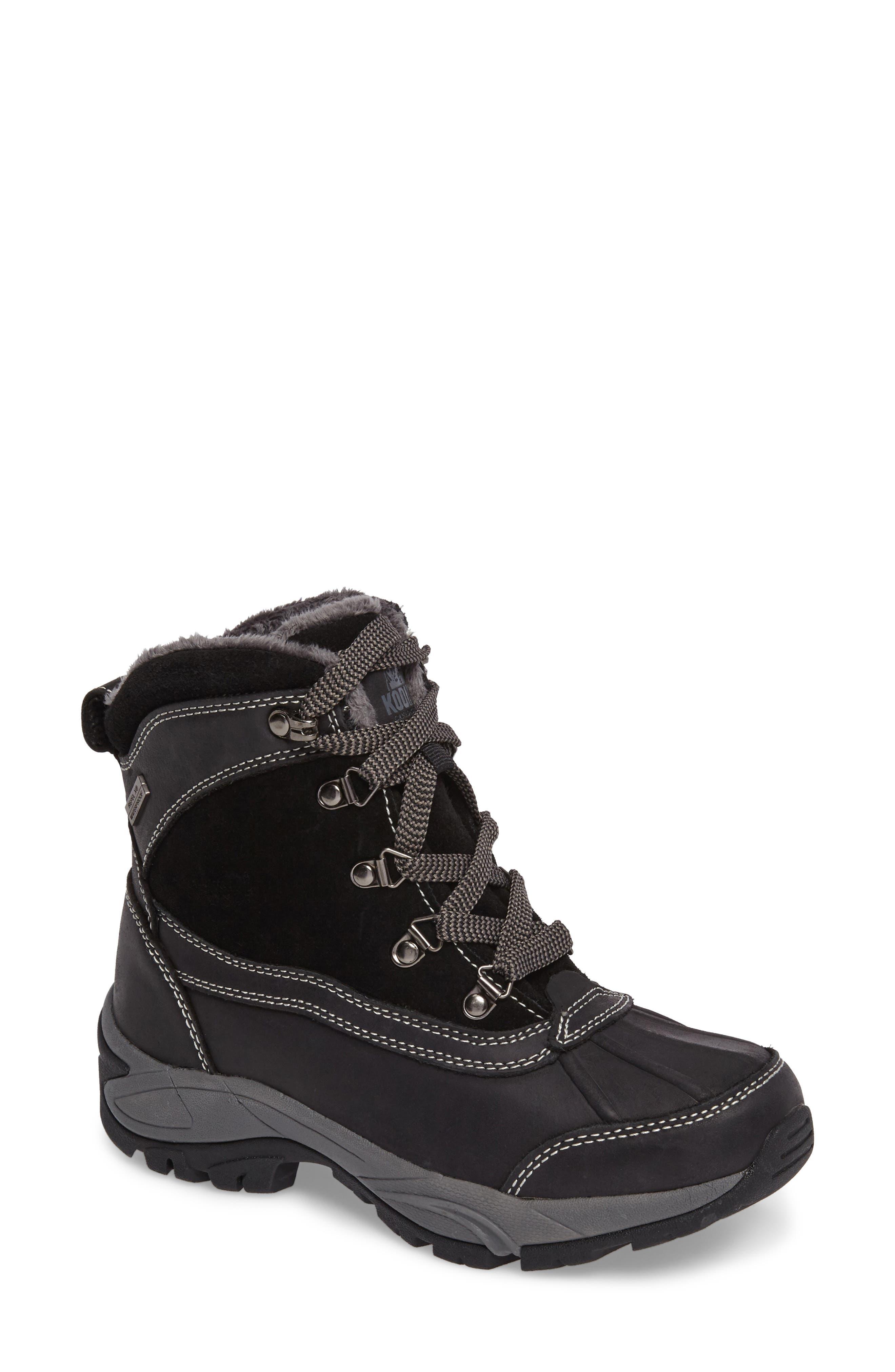 'Renee' Waterproof Insulated Winter Boot,                             Main thumbnail 1, color,                             001