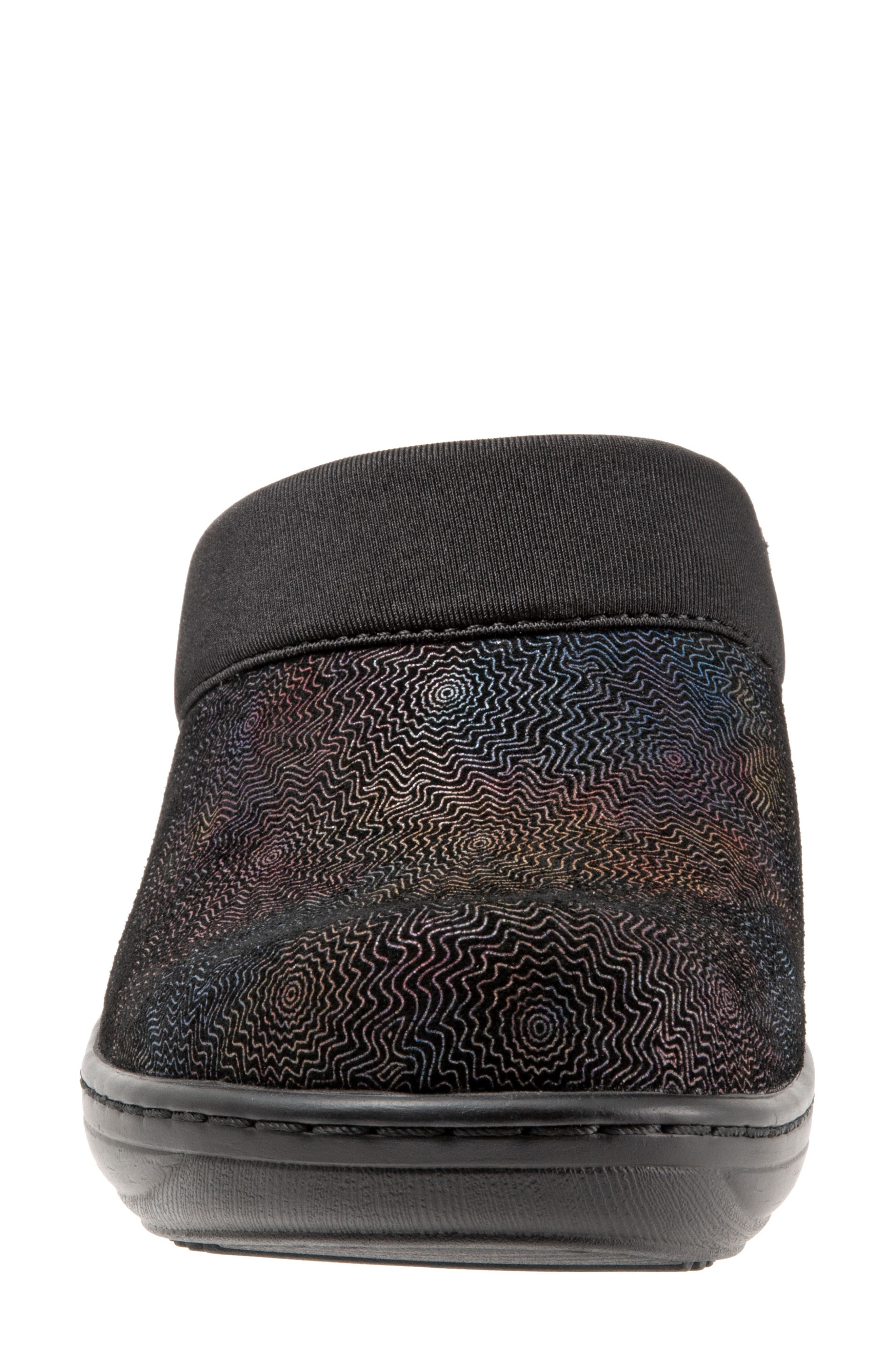 SOFTWALK<SUP>®</SUP>,                             'Murietta' Clog,                             Alternate thumbnail 4, color,                             BLACK MULTI LEATHER
