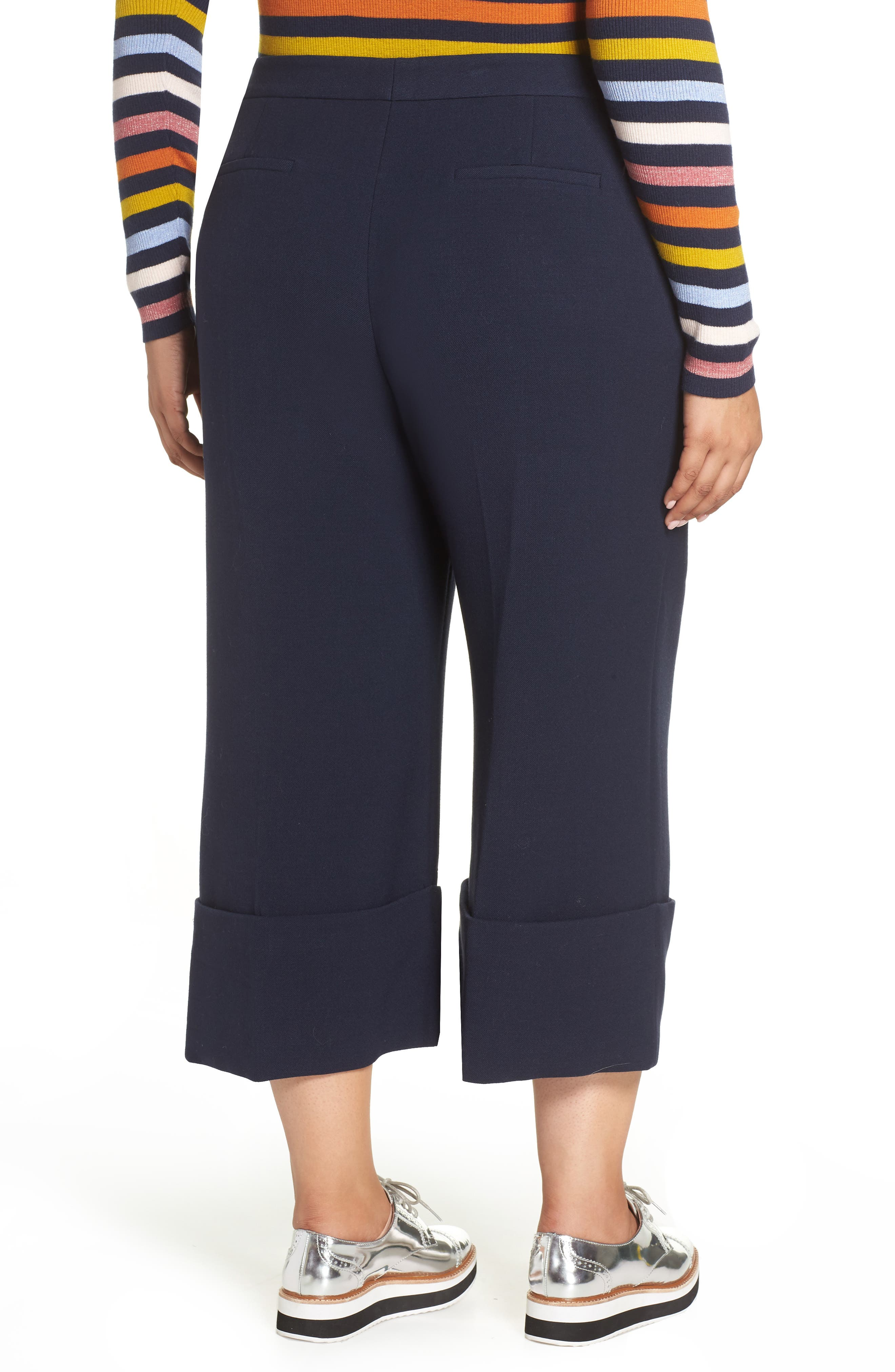 HALOGEN<SUP>®</SUP>,                             x Atlantic-Pacific High Waist Wide Cuff Ankle Pants,                             Alternate thumbnail 2, color,                             410