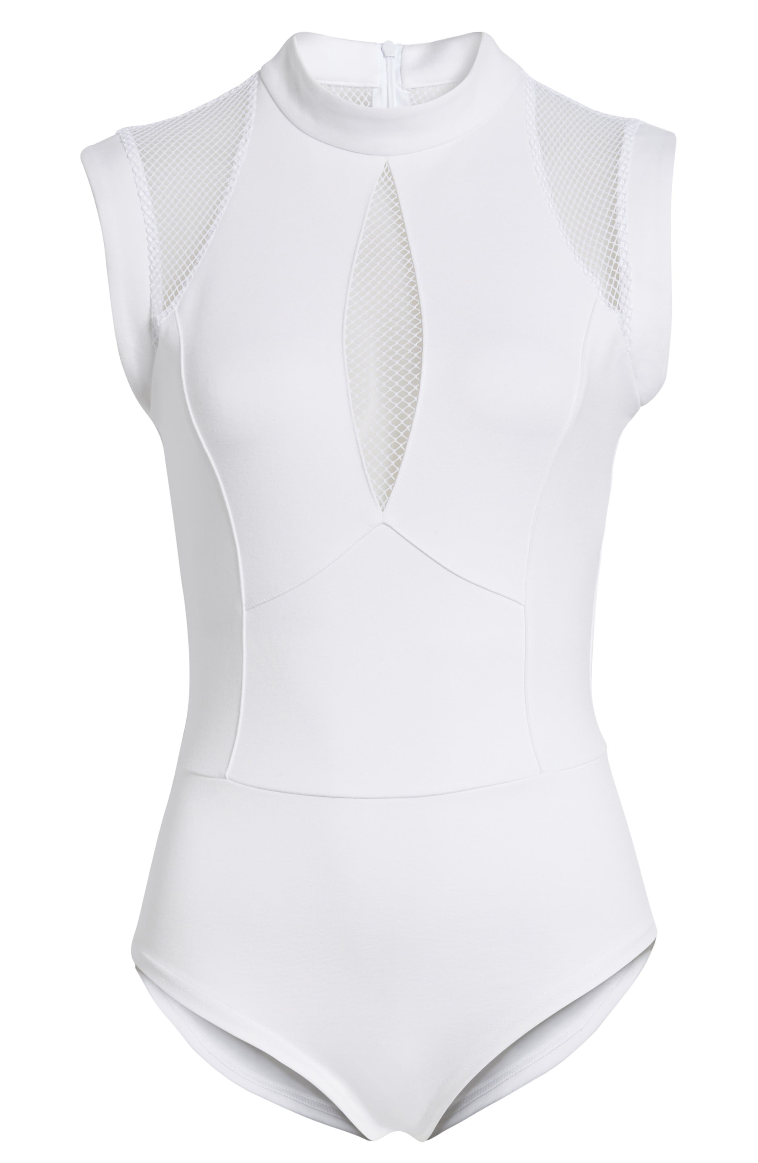 Galactica Bodysuit,                             Alternate thumbnail 6, color,                             WHITE